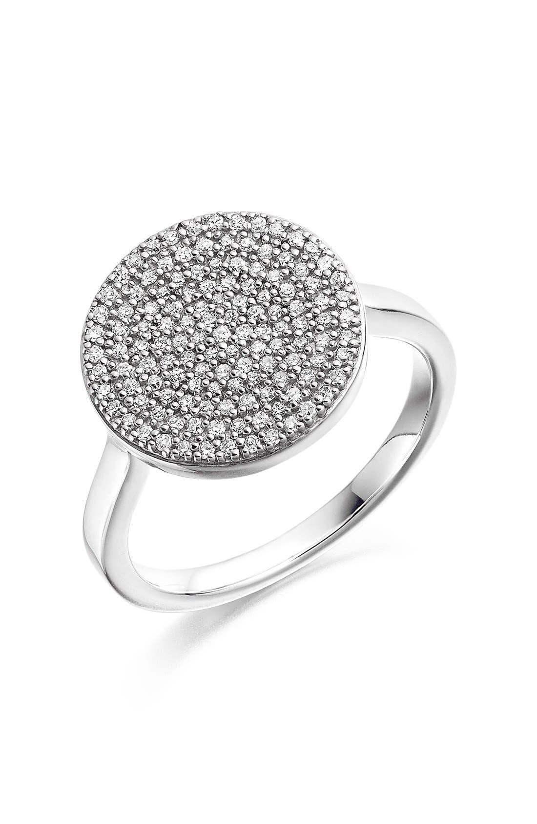 Alternate Image 1 Selected - Monica Vinader 'Ava' Diamond Disc Ring