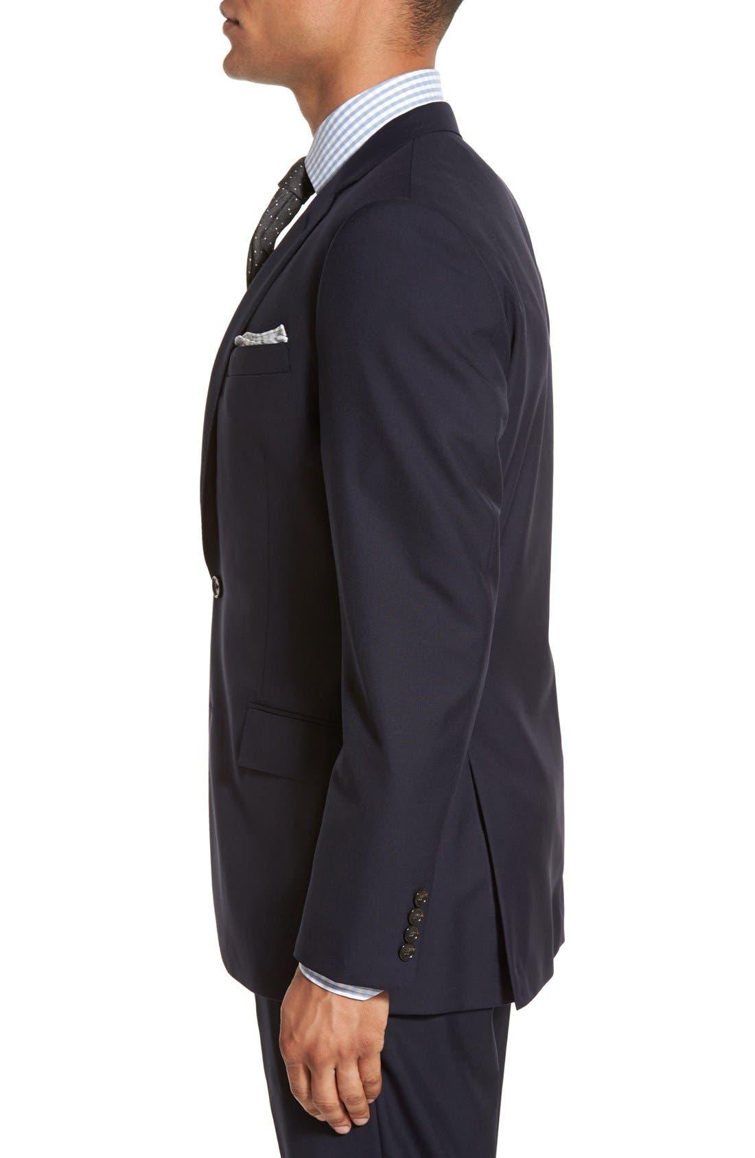 Ludlow Trim Fit Solid Wool Sport Coat,                             Alternate thumbnail 3, color,                             Deep Navy