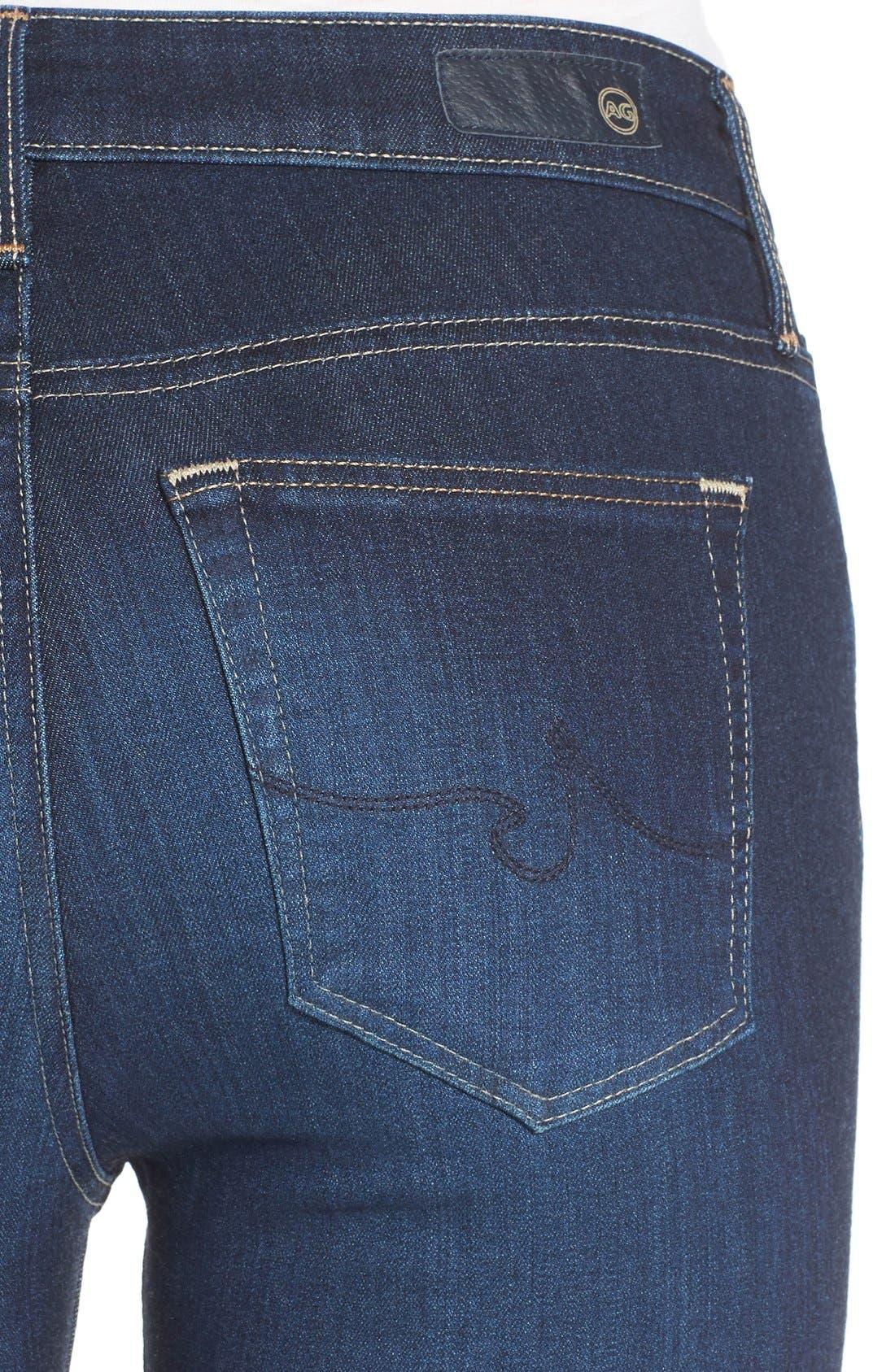Alternate Image 4  - AG 'The Farrah' High Rise Crop Skinny Jeans