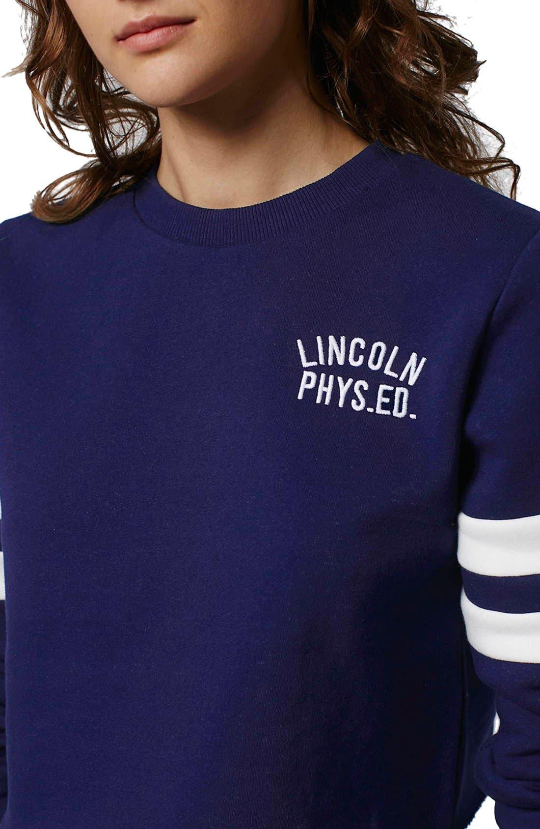 Alternate Image 5  - Topshop 'Lincoln Phys Ed' Crop Sweatshirt