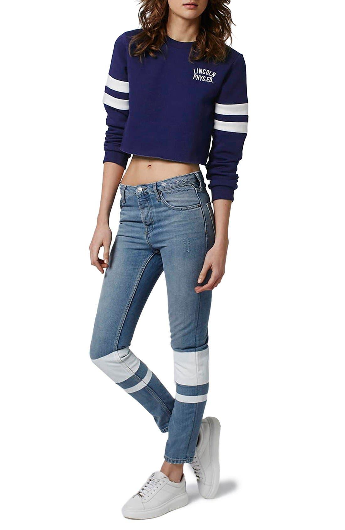 Alternate Image 2  - Topshop 'Lincoln Phys Ed' Crop Sweatshirt