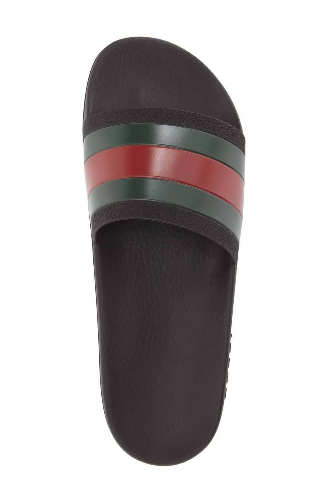 Rubber Slide Sandal,                             Alternate thumbnail 3, color,                             Black