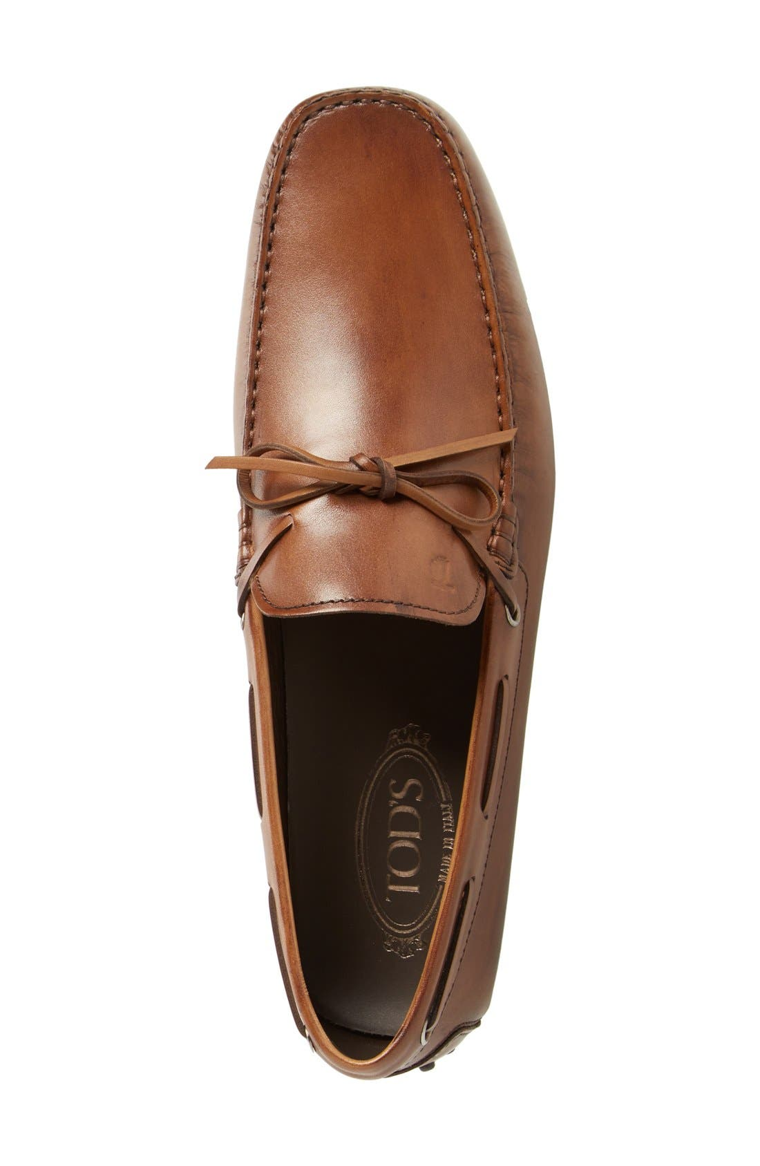 Alternate Image 3  - Tod's 'City Gommini' Tie Front Driving Moccasin (Men)