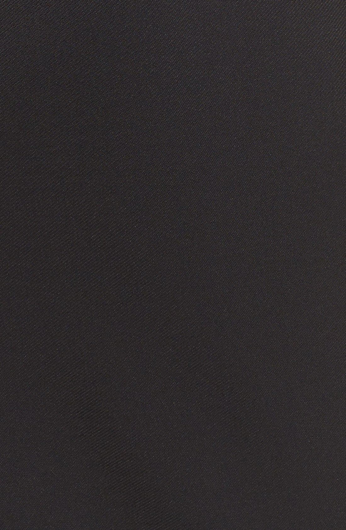 Asymmetrical Zip Pencil Skirt,                             Alternate thumbnail 6, color,                             Black