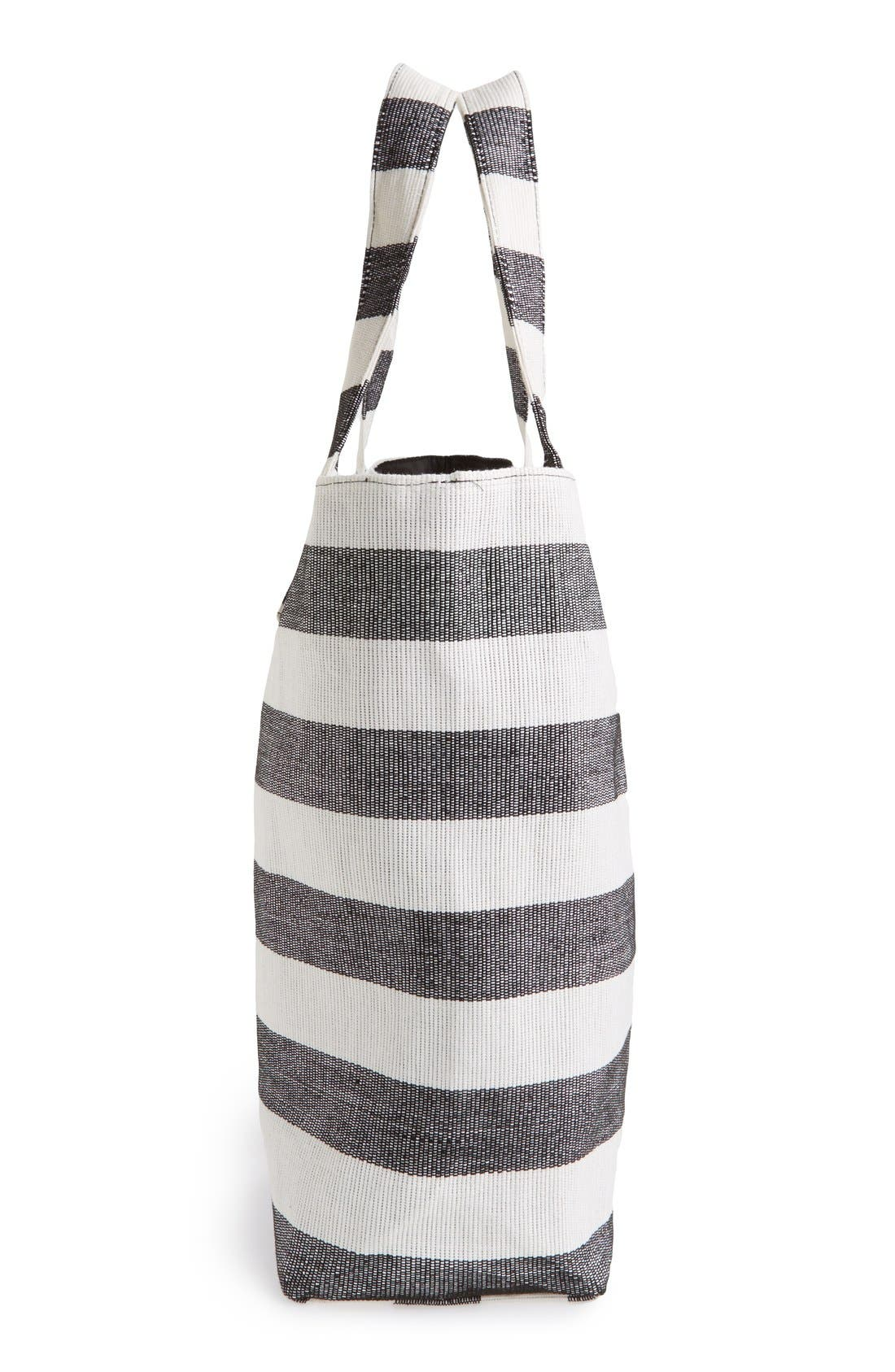 Alternate Image 5  - Cesca Stripe Canvas Tote