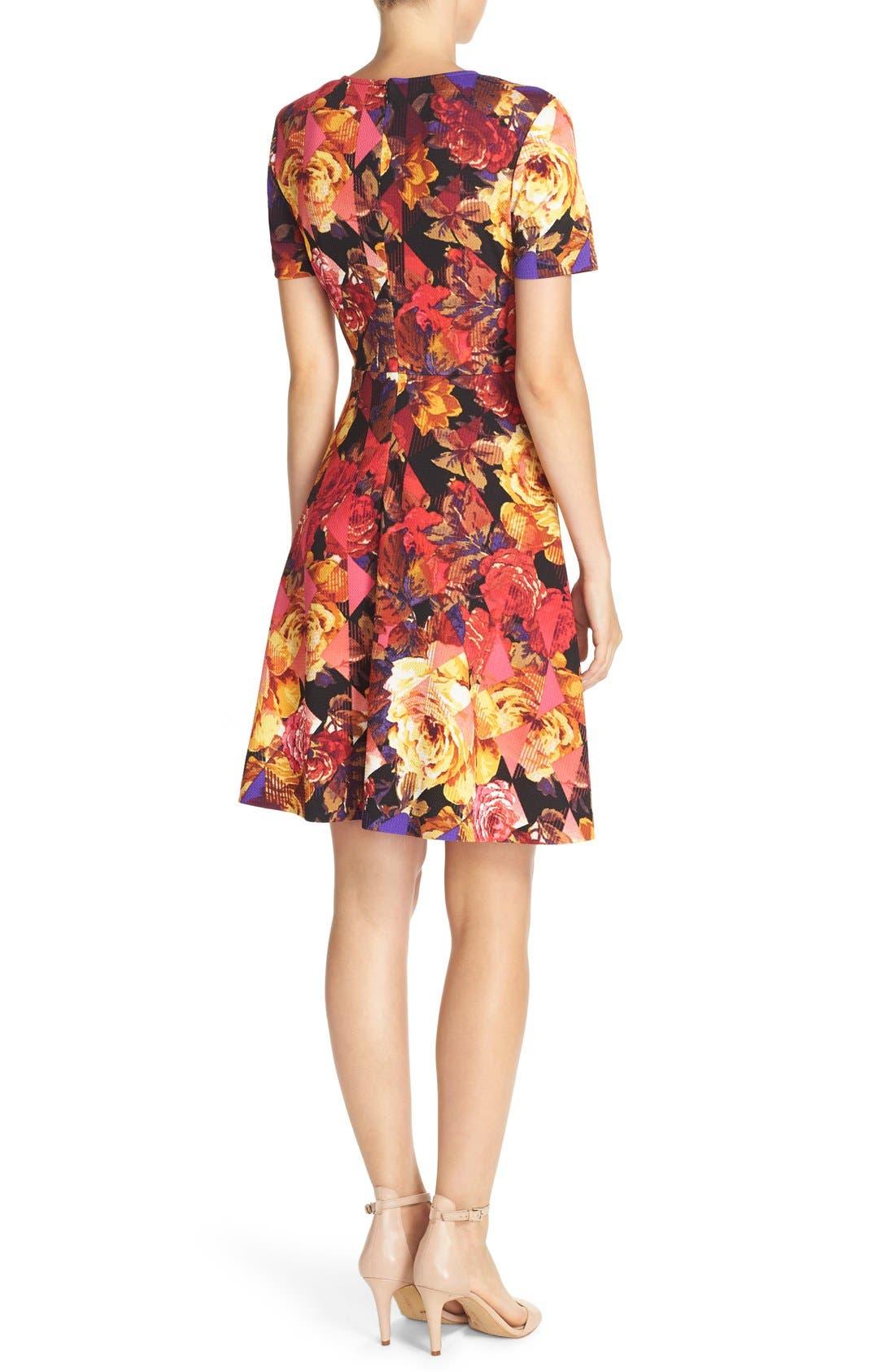 Alternate Image 2  - ECI Floral Print Fit & Flare Dress