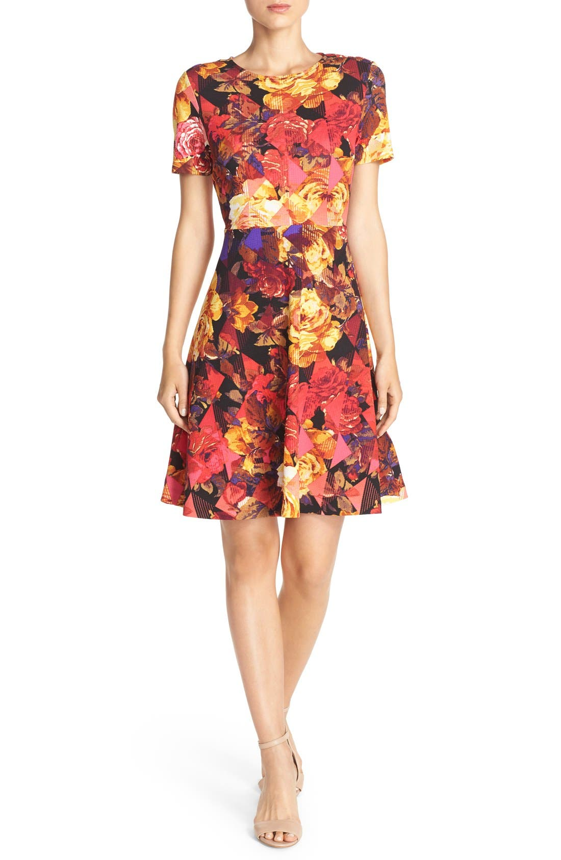 Alternate Image 4  - ECI Floral Print Fit & Flare Dress