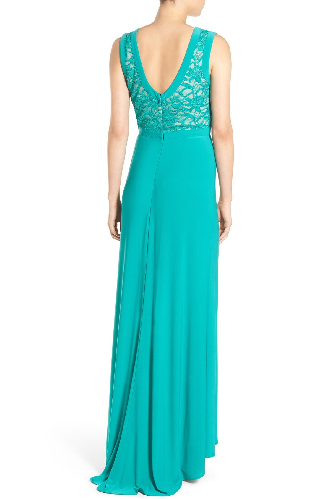 Alternate Image 2  - Morgan & Co. Lace Bodice Gown