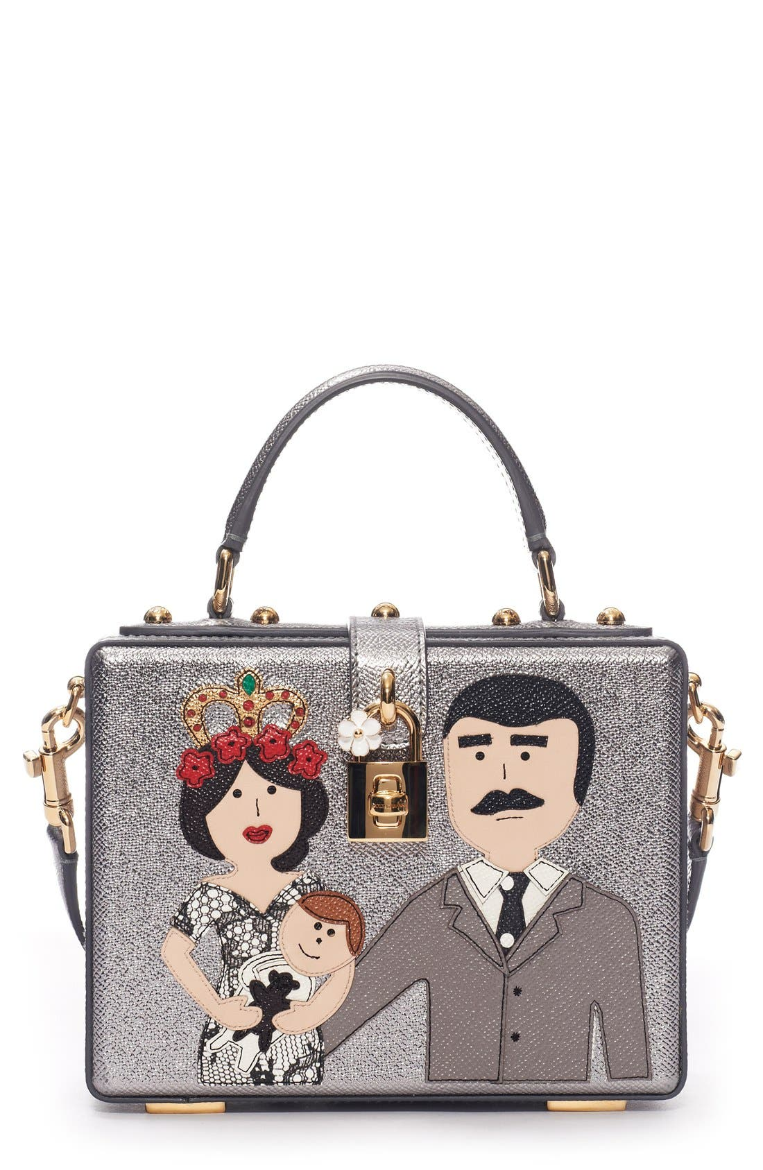 Alternate Image 1 Selected - Dolce&Gabbana 'Patch Family' Box Bag