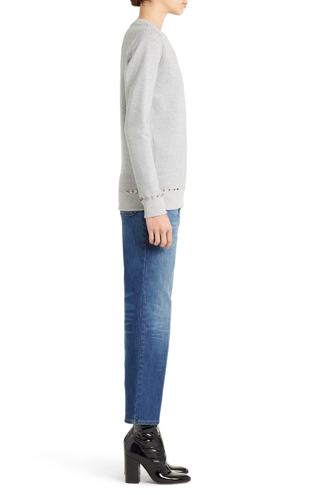 Alternate Image 4  - Valentino Studded Crewneck Sweatshirt