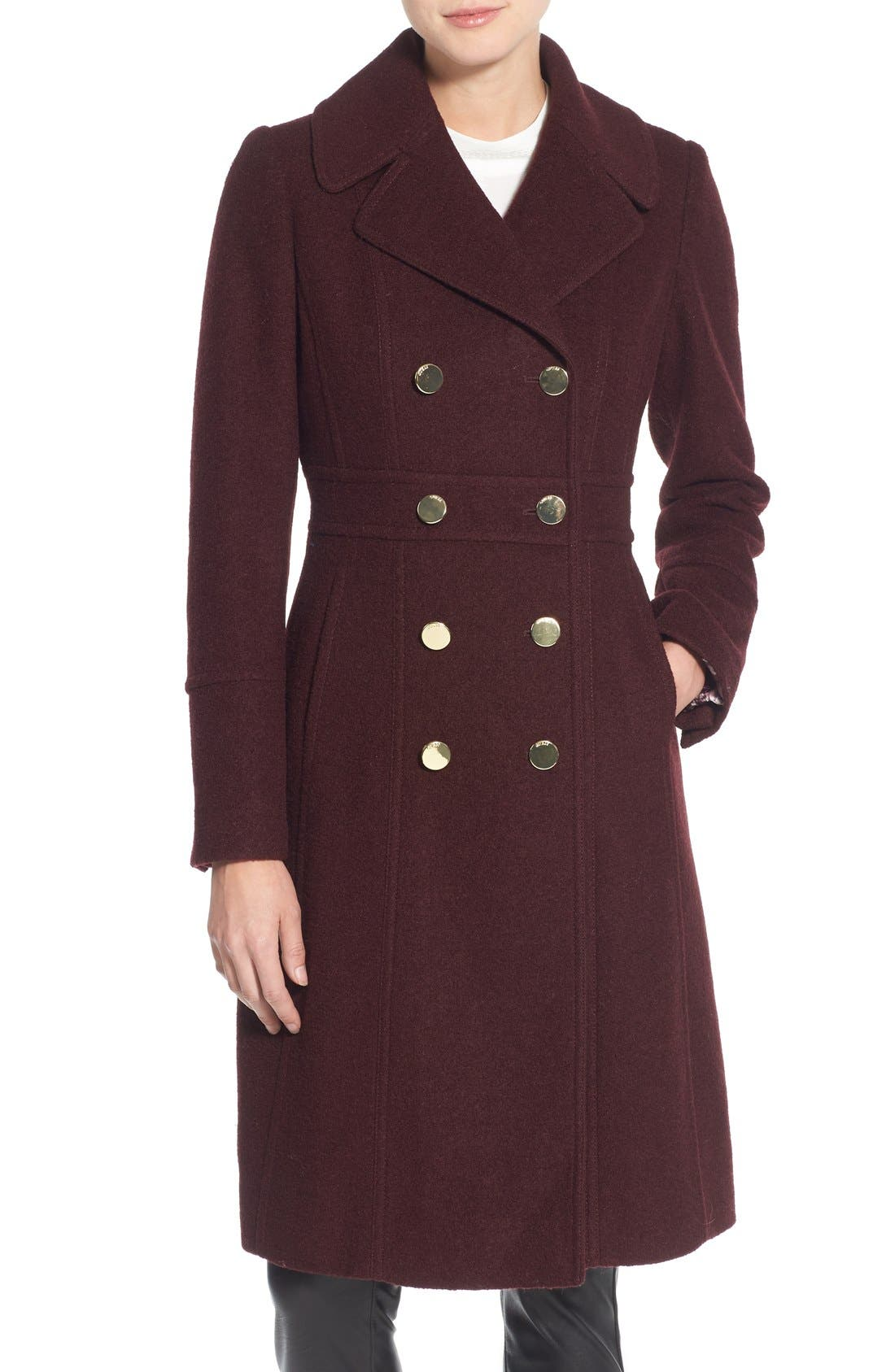 Alternate Image 1 Selected - GUESS Fit & Flare Military Coat