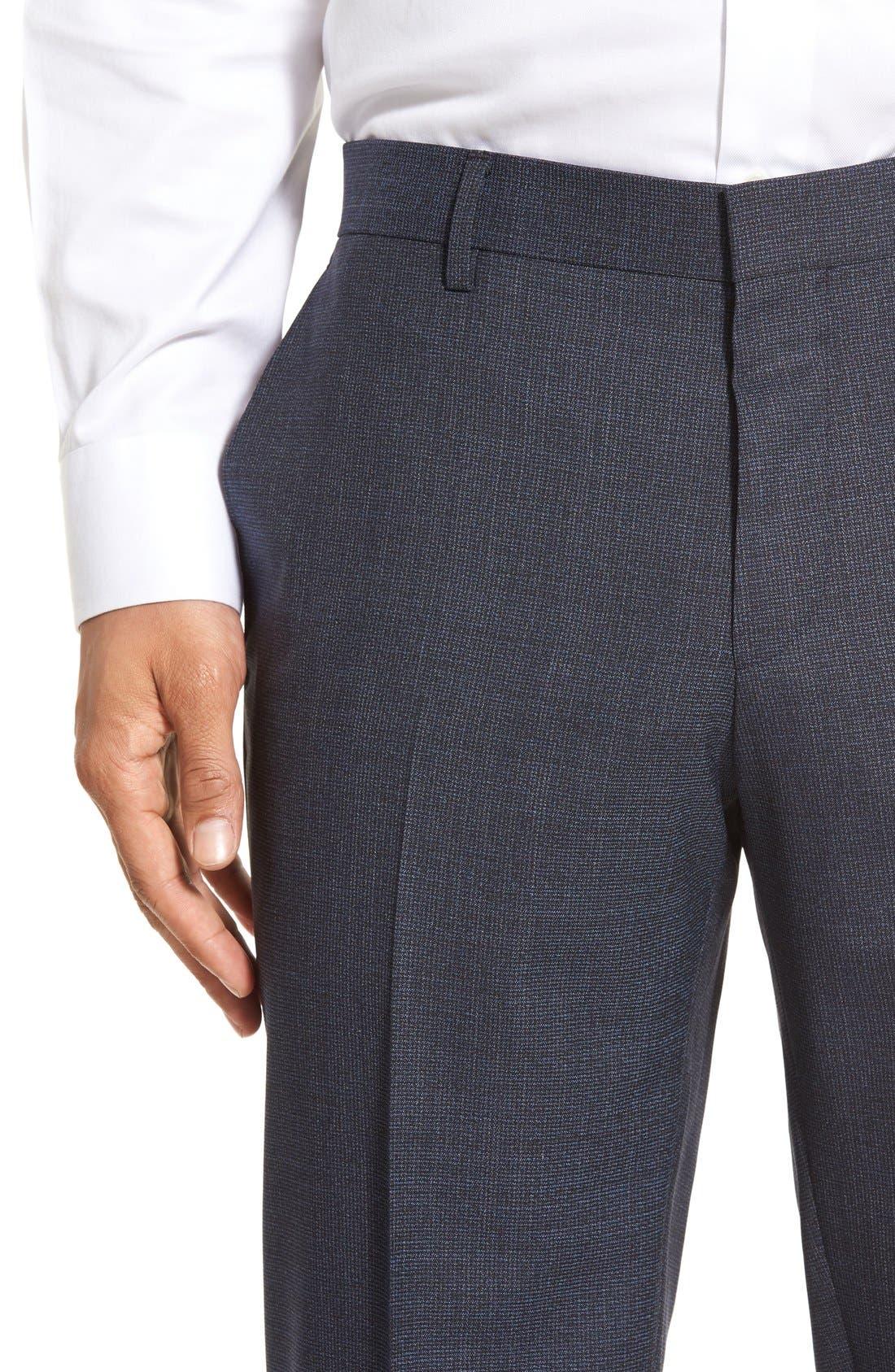 Alternate Image 5  - BOSS 'Genesis' Flat Front Houndstooth Wool Trousers