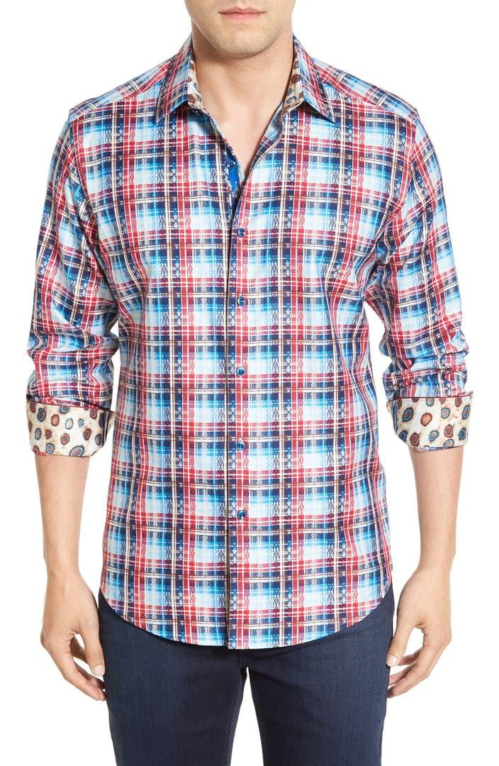 Robert graham 39 rift valley 39 classic fit check sport shirt for Robert graham tall shirts