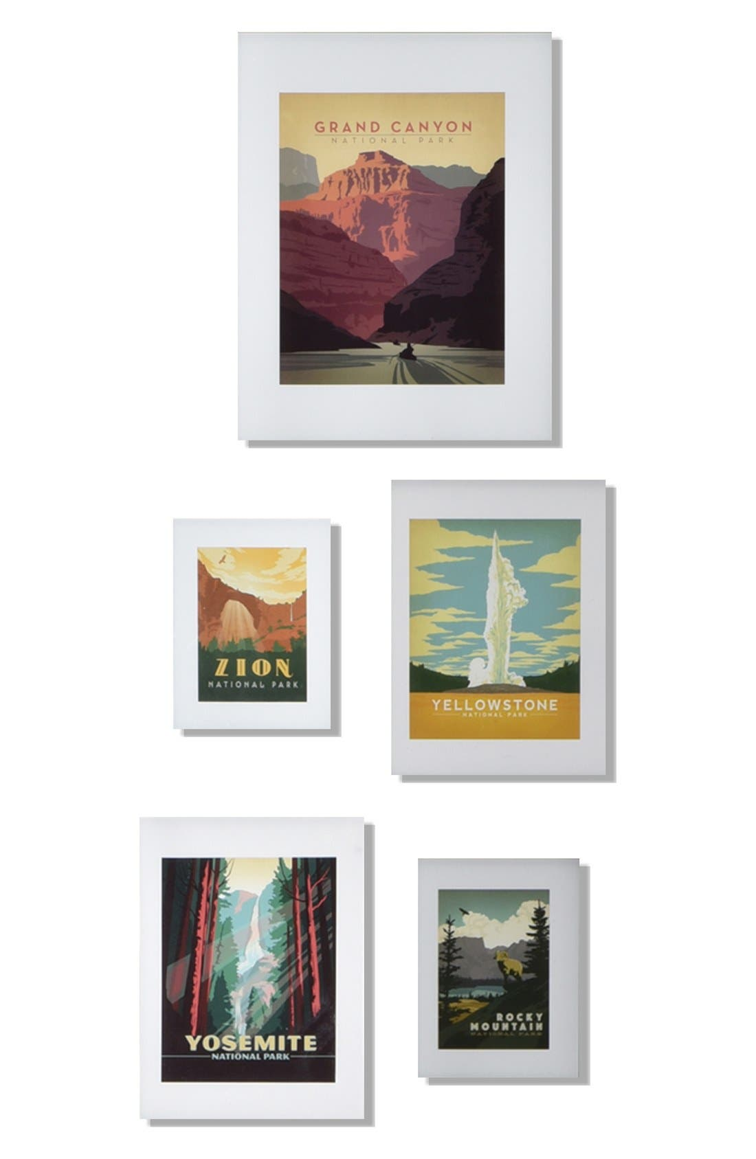 Main Image - DENY Designs National Parks Five-Piece Gallery Wall Art Print Set