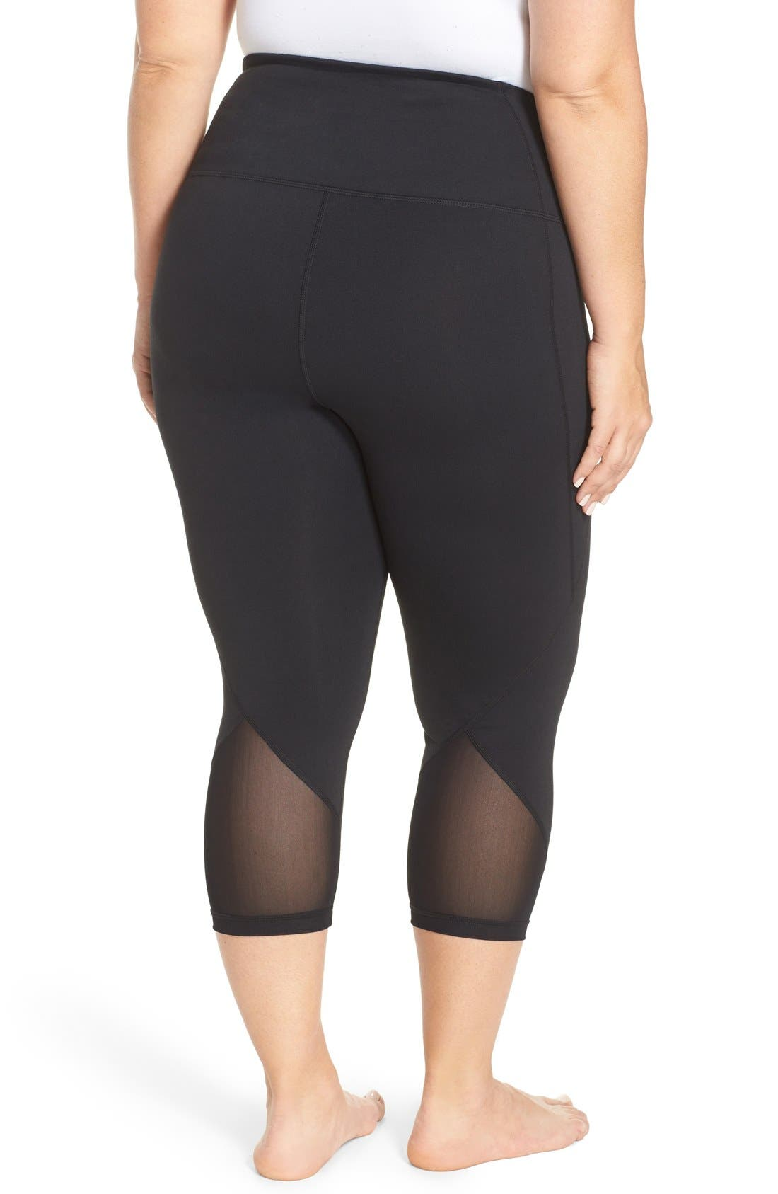 Zella 'Hatha' High Waist Crop Leggings (Plus Size)