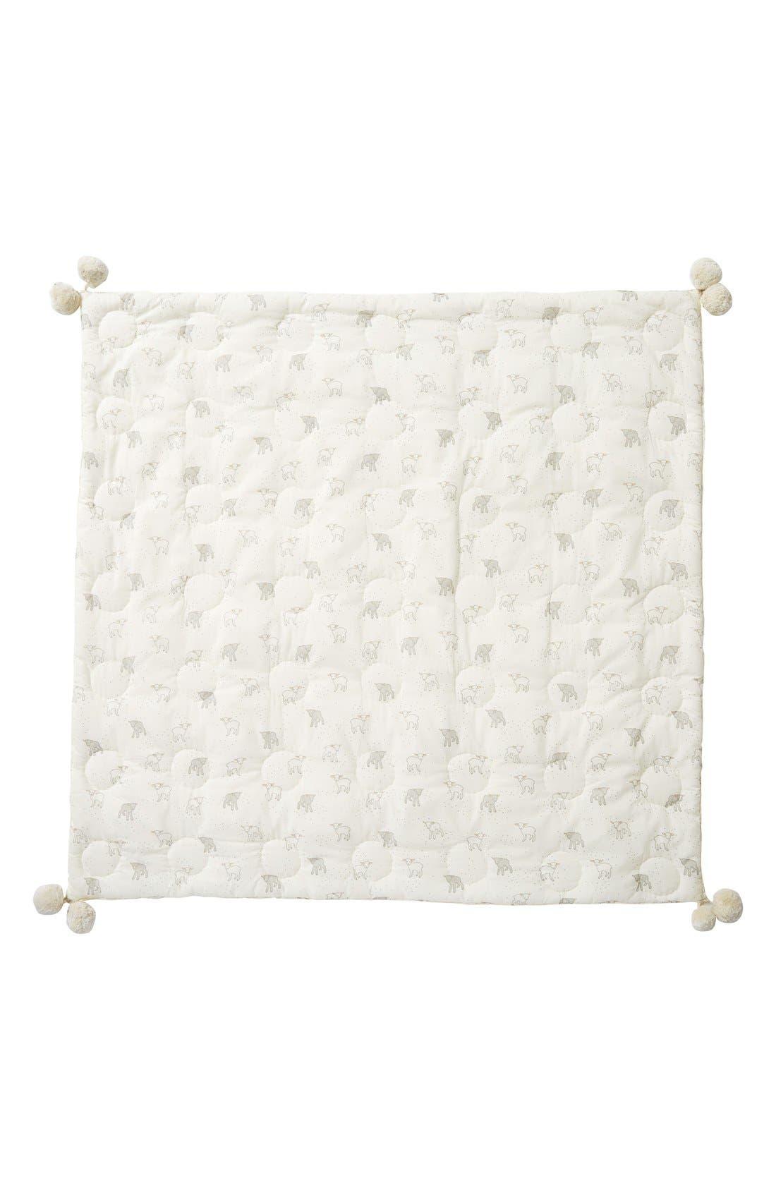 Little Lamb Baby Blanket,                             Main thumbnail 1, color,                             Cream