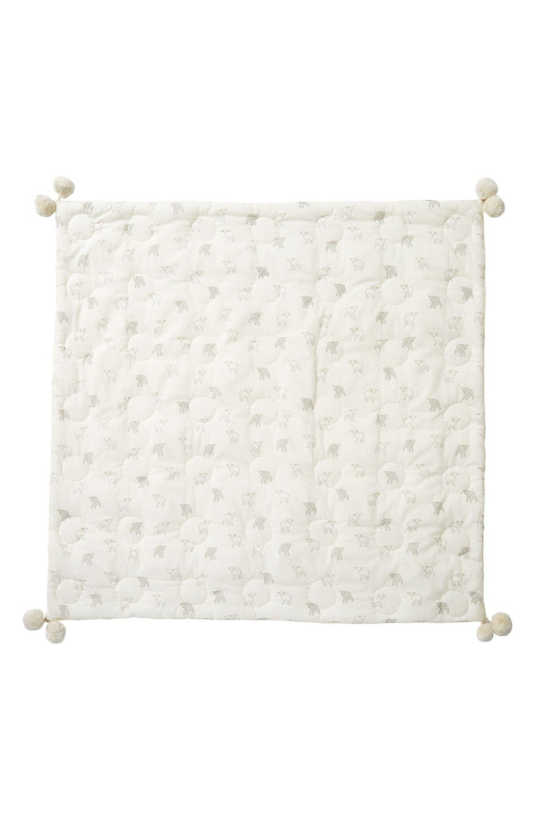 Little Lamb Baby Blanket,                         Main,                         color, Cream