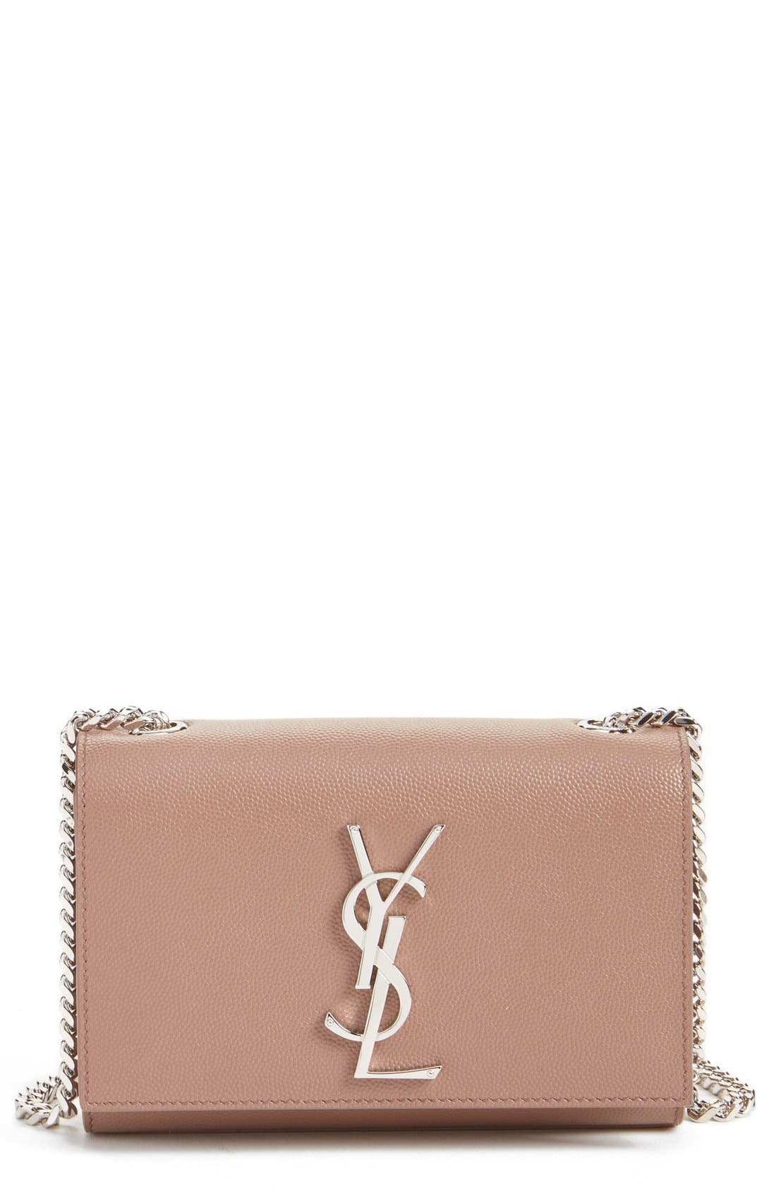 Main Image - Saint Laurent 'Small Monogram' Leather Crossbody Bag