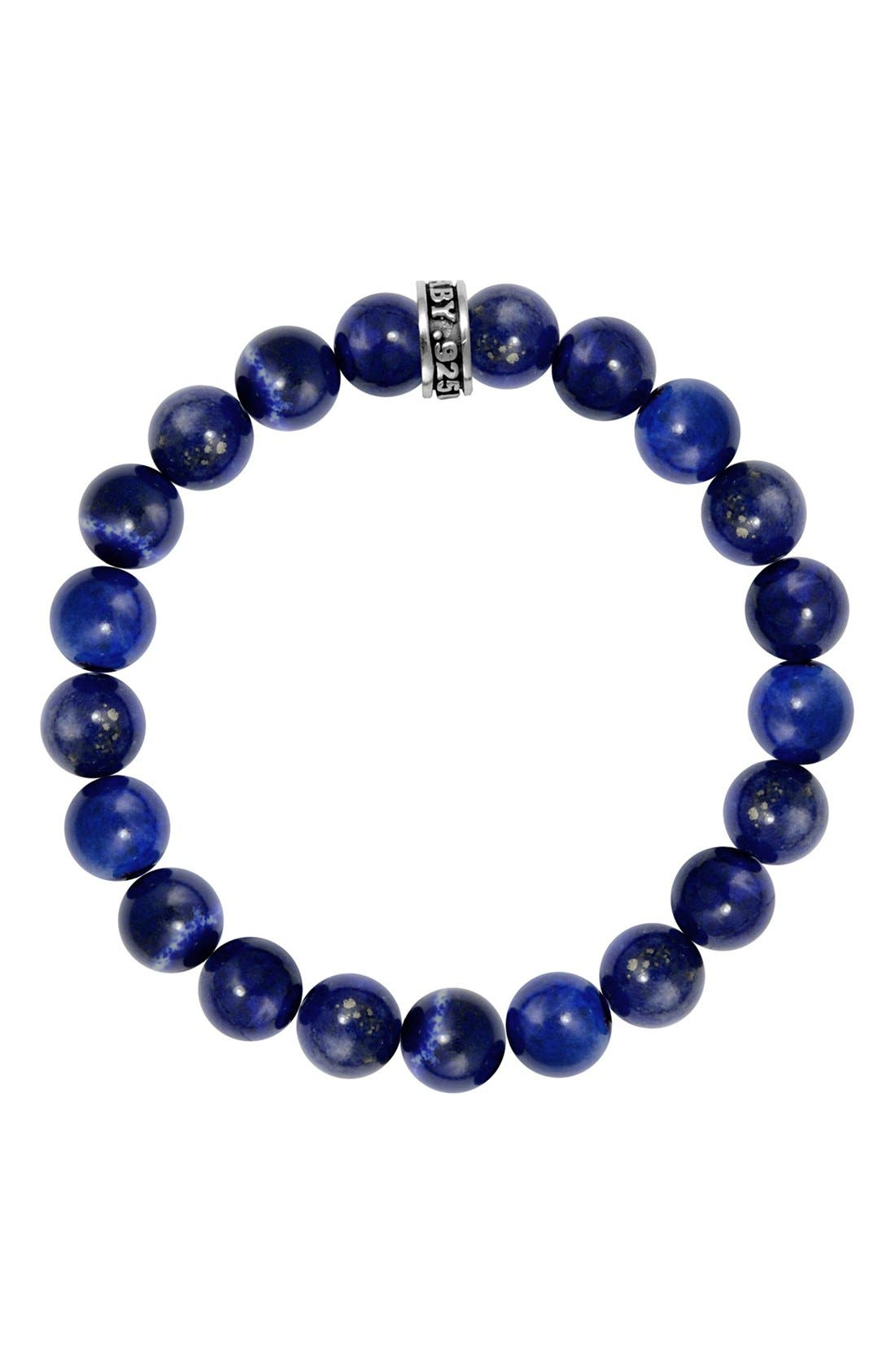 KING BABY Lapis Lazuli Bead Bracelet