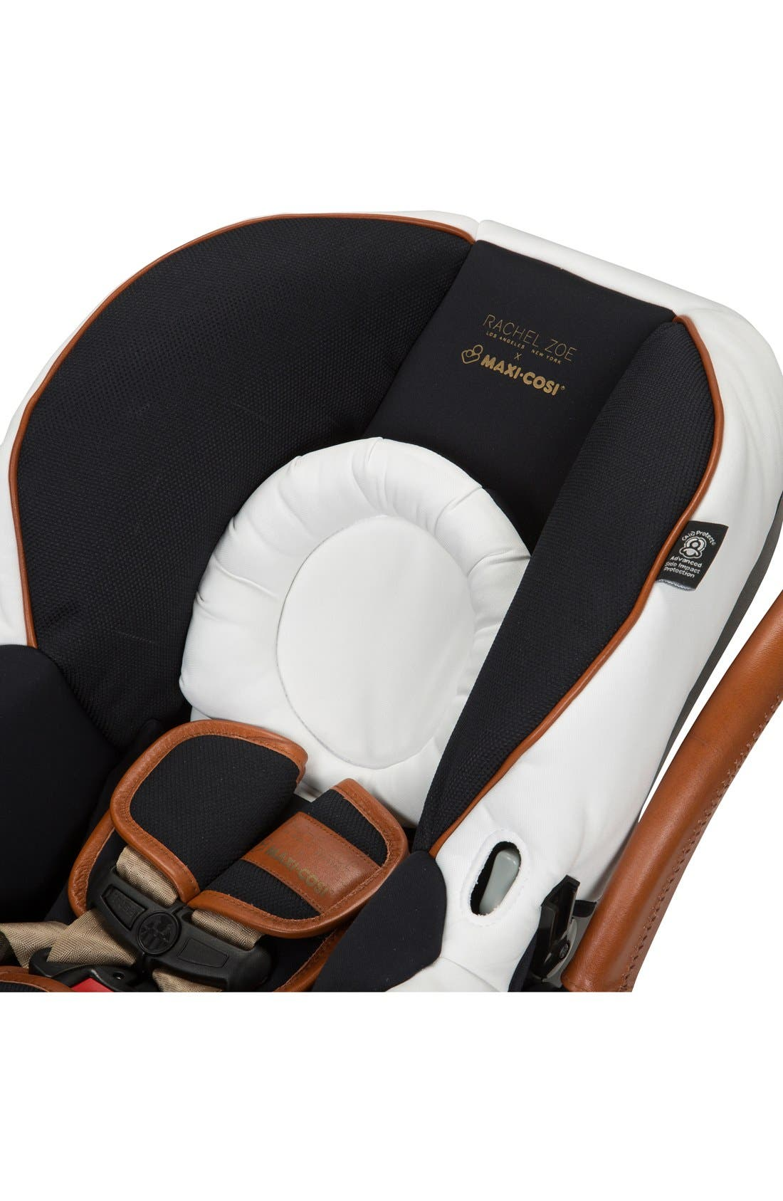 x Rachel Zoe Mico Max 30 - Special Edition Infant Car Seat,                             Alternate thumbnail 4, color,                             Black/ White