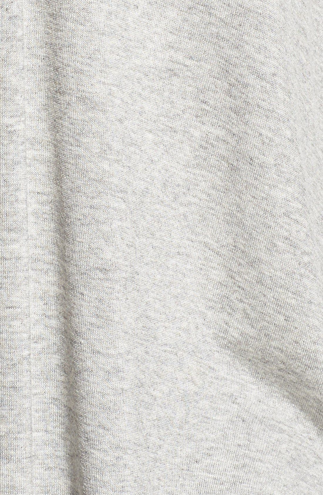 Lace-Up Back Tee,                             Alternate thumbnail 5, color,                             Heather Grey