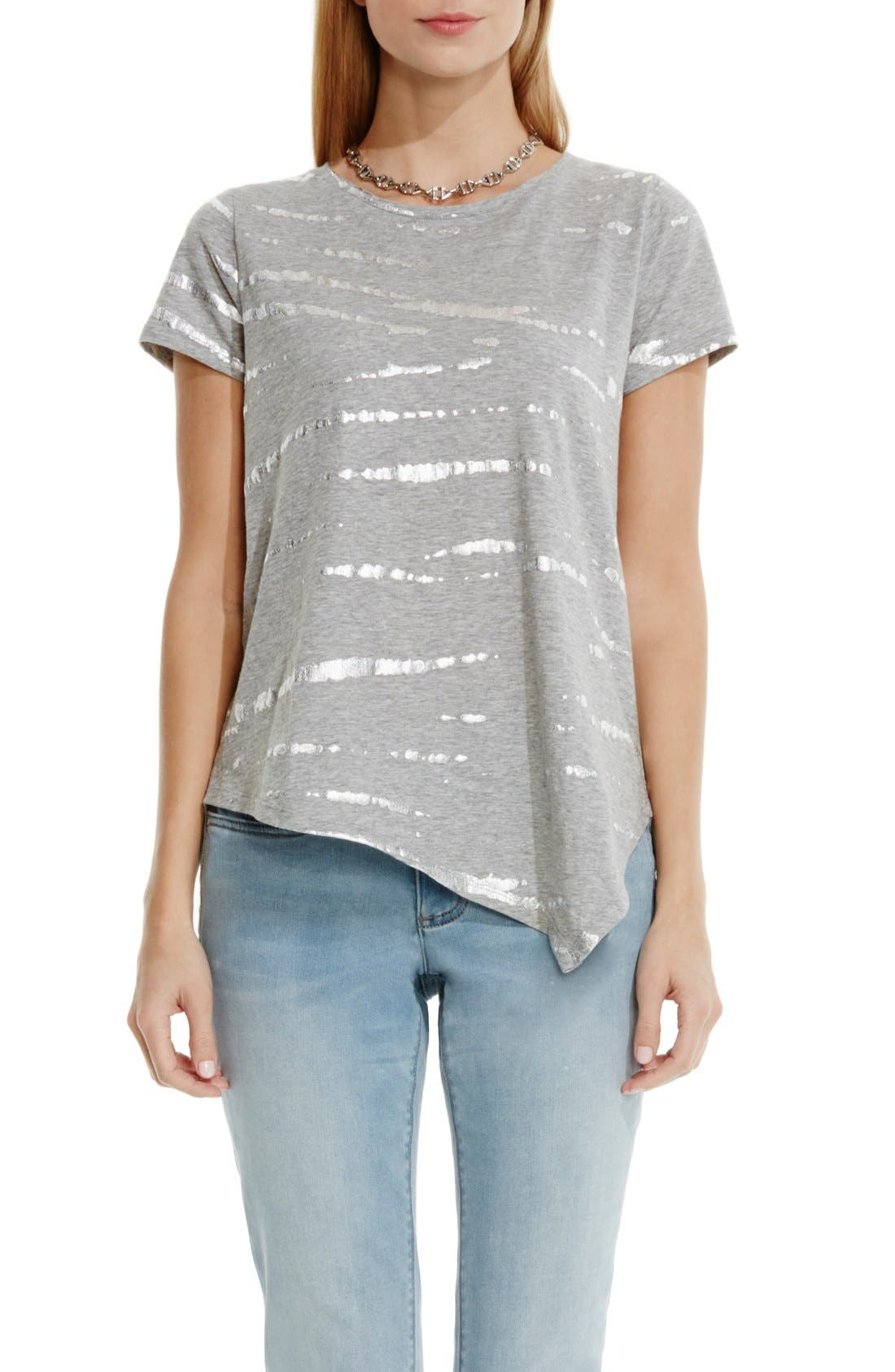 Alternate Image 1 Selected - Two by Vince Camuto Foiled Tie Dye Tee