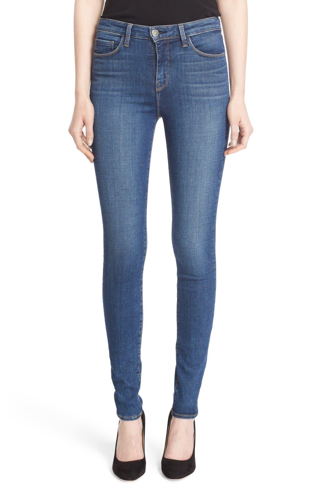 '30' High Rise Skinny Jeans,                             Main thumbnail 1, color,                             Dark Vintage