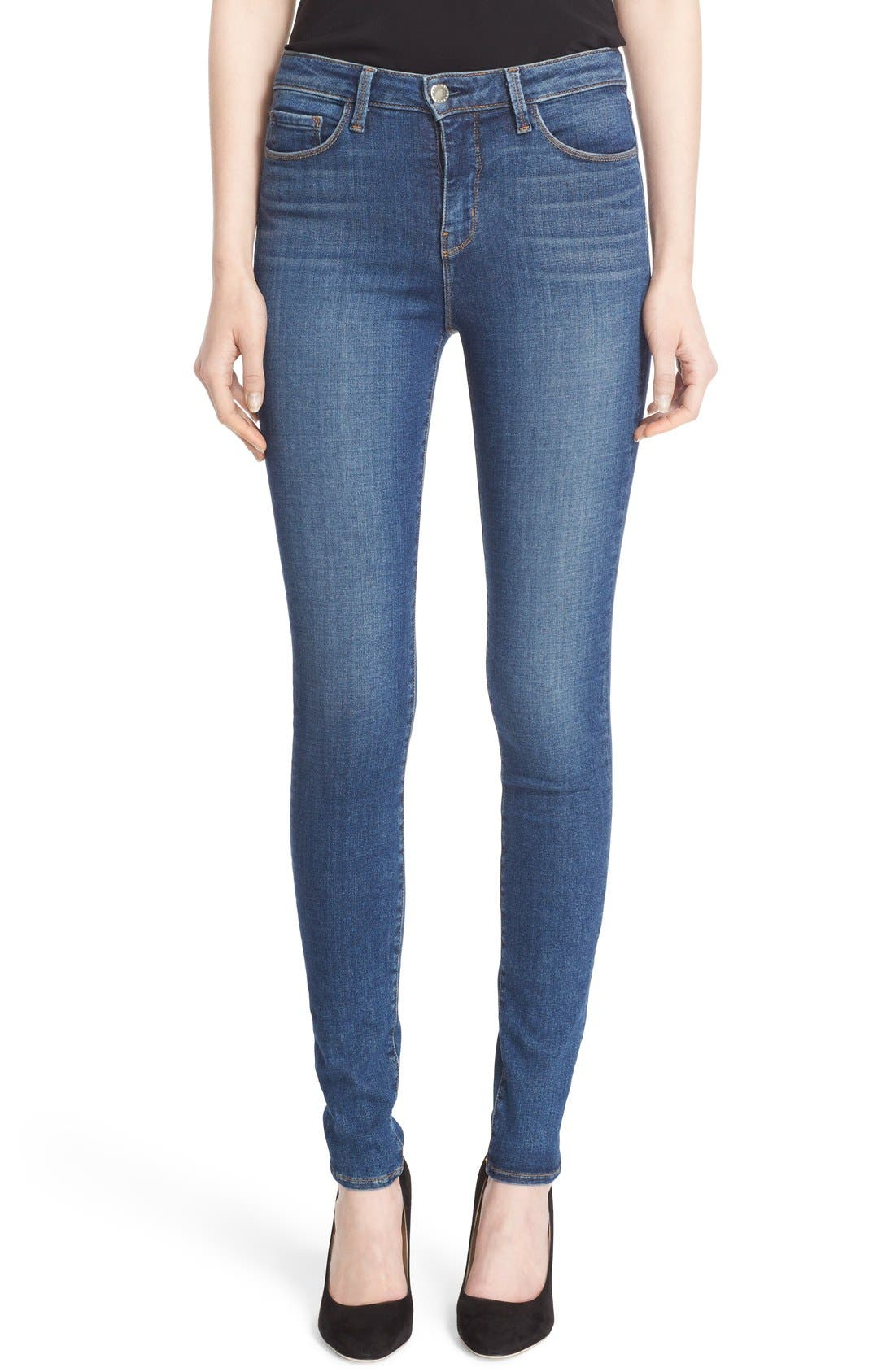 '30' High Rise Skinny Jeans,                         Main,                         color, Dark Vintage
