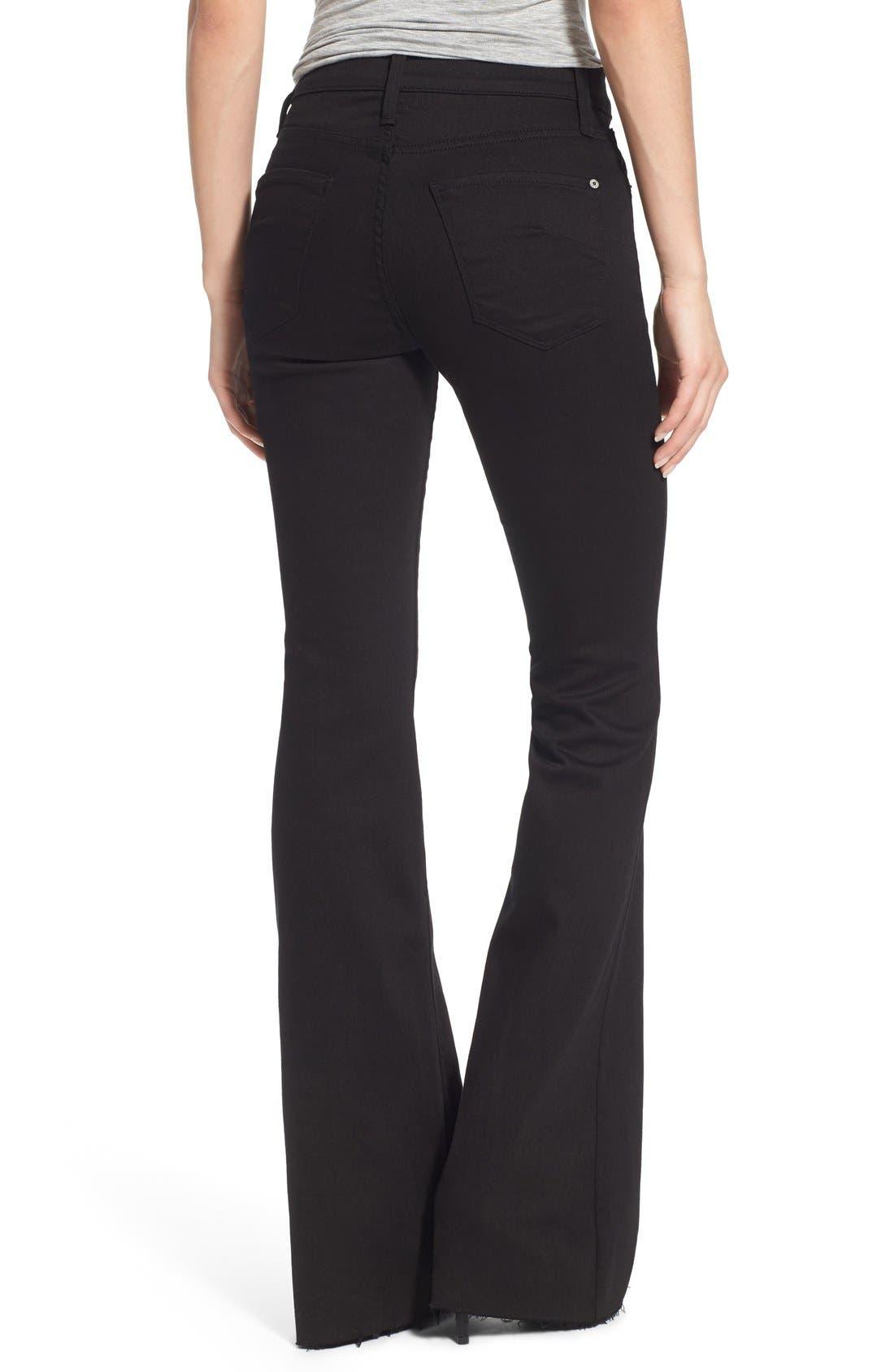 Alternate Image 2  - James Jeans Frayed Hem Flare Jeans
