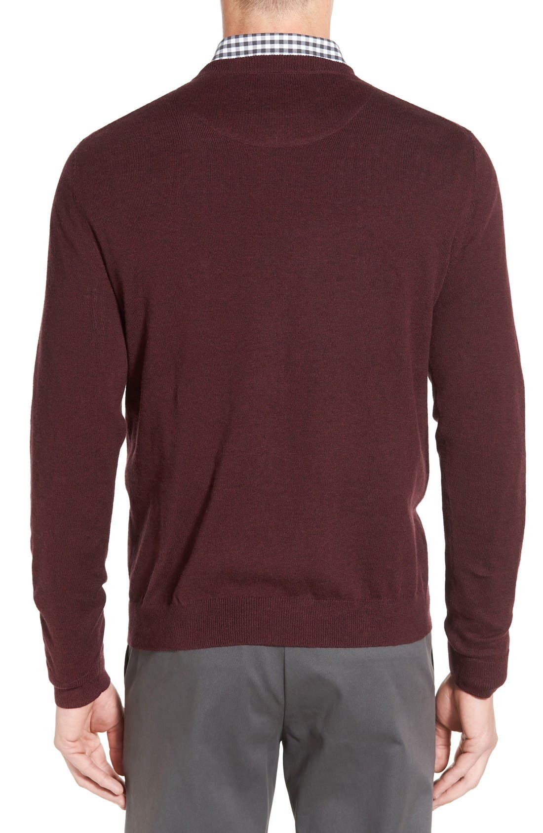 Alternate Image 2  - Nordstrom Men's Shop Cotton & Cashmere Crewneck Sweater (Regular & Tall)