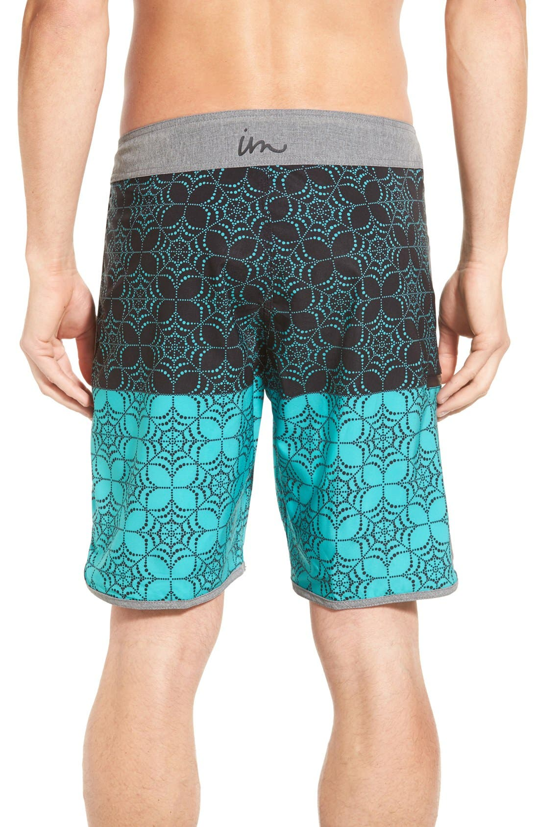 'Quest' Board Shorts,                             Alternate thumbnail 2, color,                             Black/ Aqua
