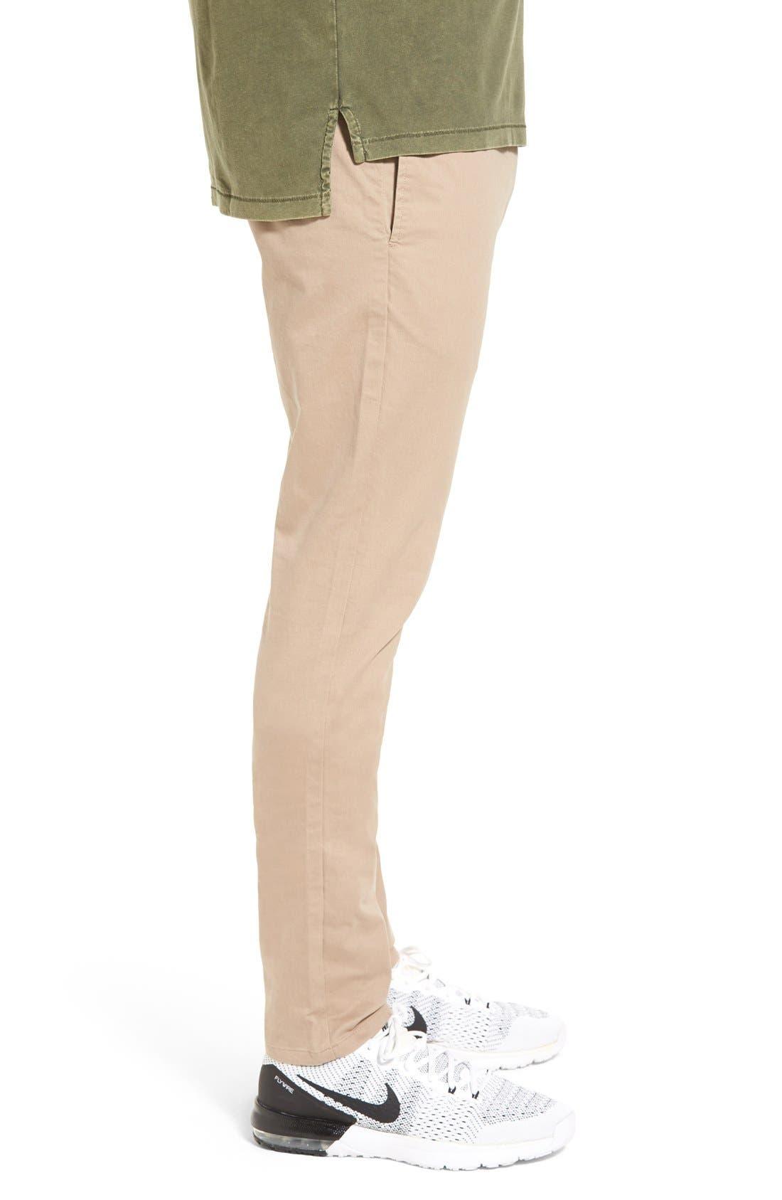 'Salerno' Chino Jogger Pants,                             Alternate thumbnail 3, color,                             Tan