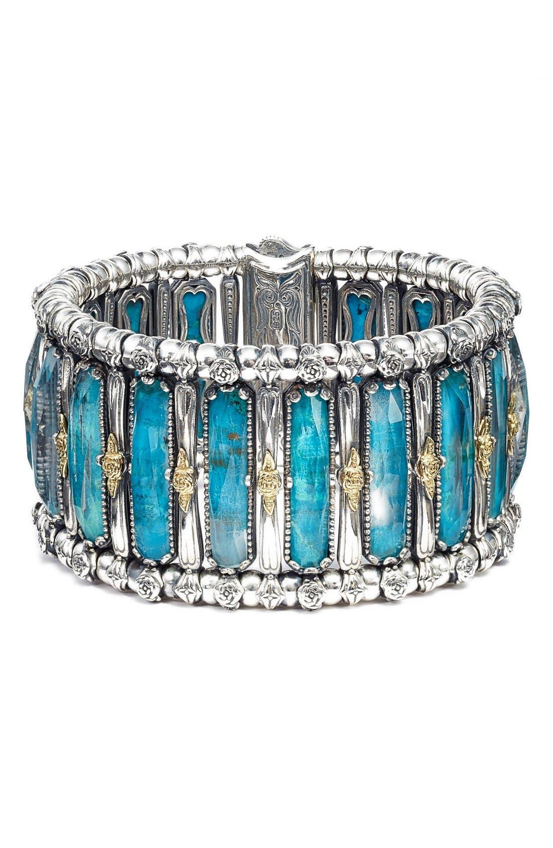 'Iliada' Stone Bracelet,                         Main,                         color, Blue/ Green