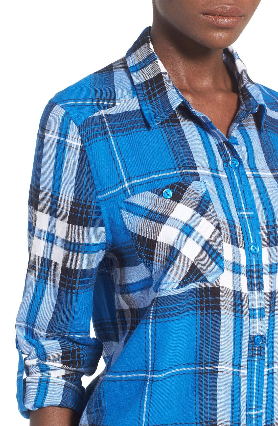 Alternate Image 4  - BP. Crop Plaid Shirt