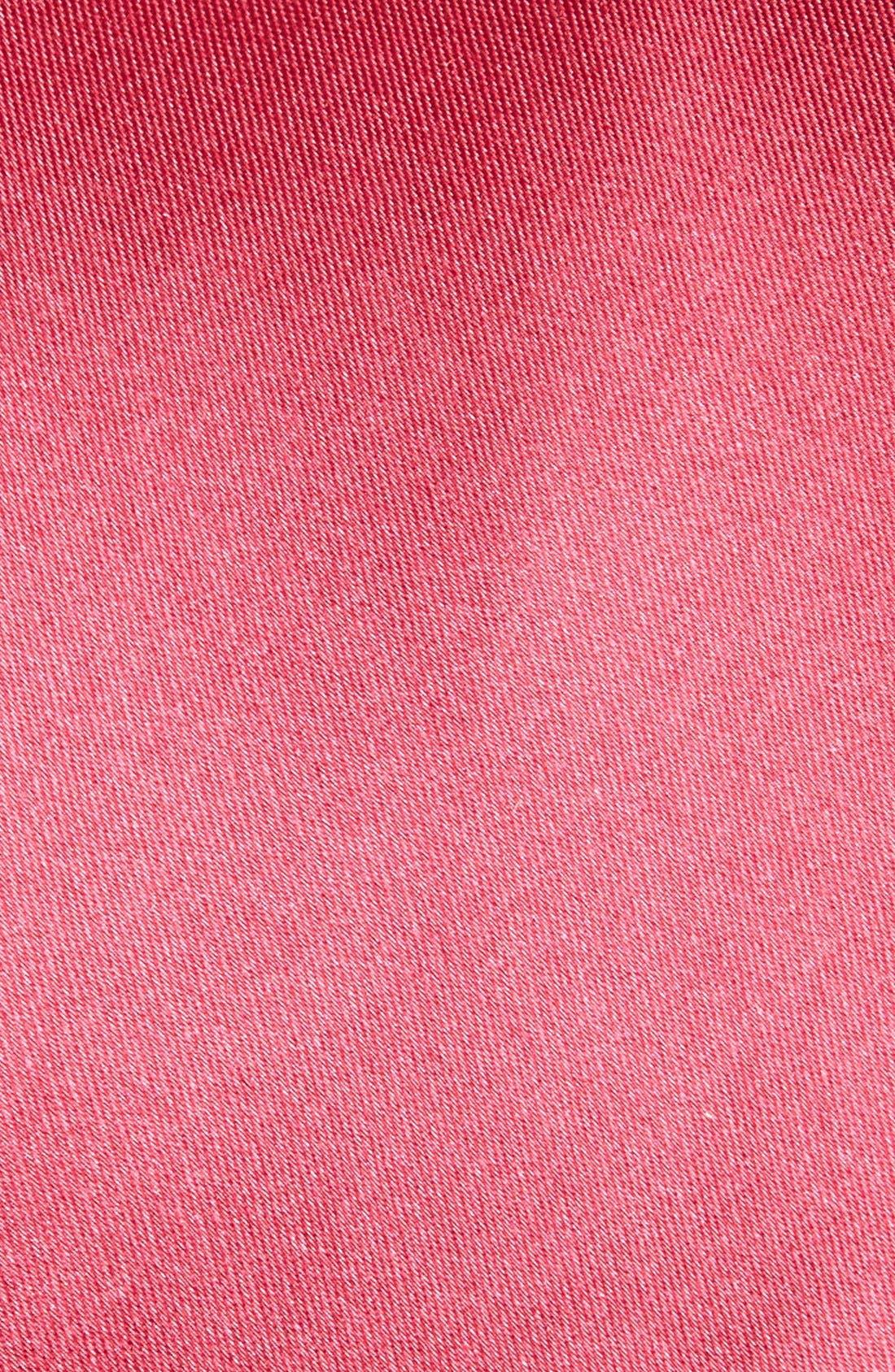Alternate Image 2  - Nordstrom Men's Shop Solid Satin Silk Tie (X-Long)