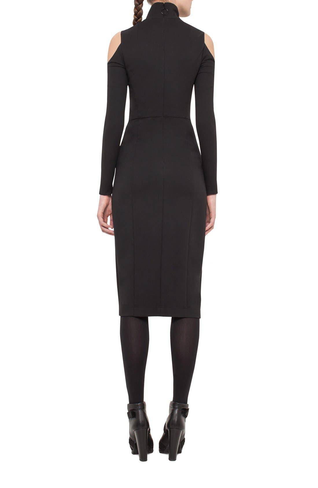 Alternate Image 2  - Akris punto Cold Shoulder Stretch Jersey Sheath Dress