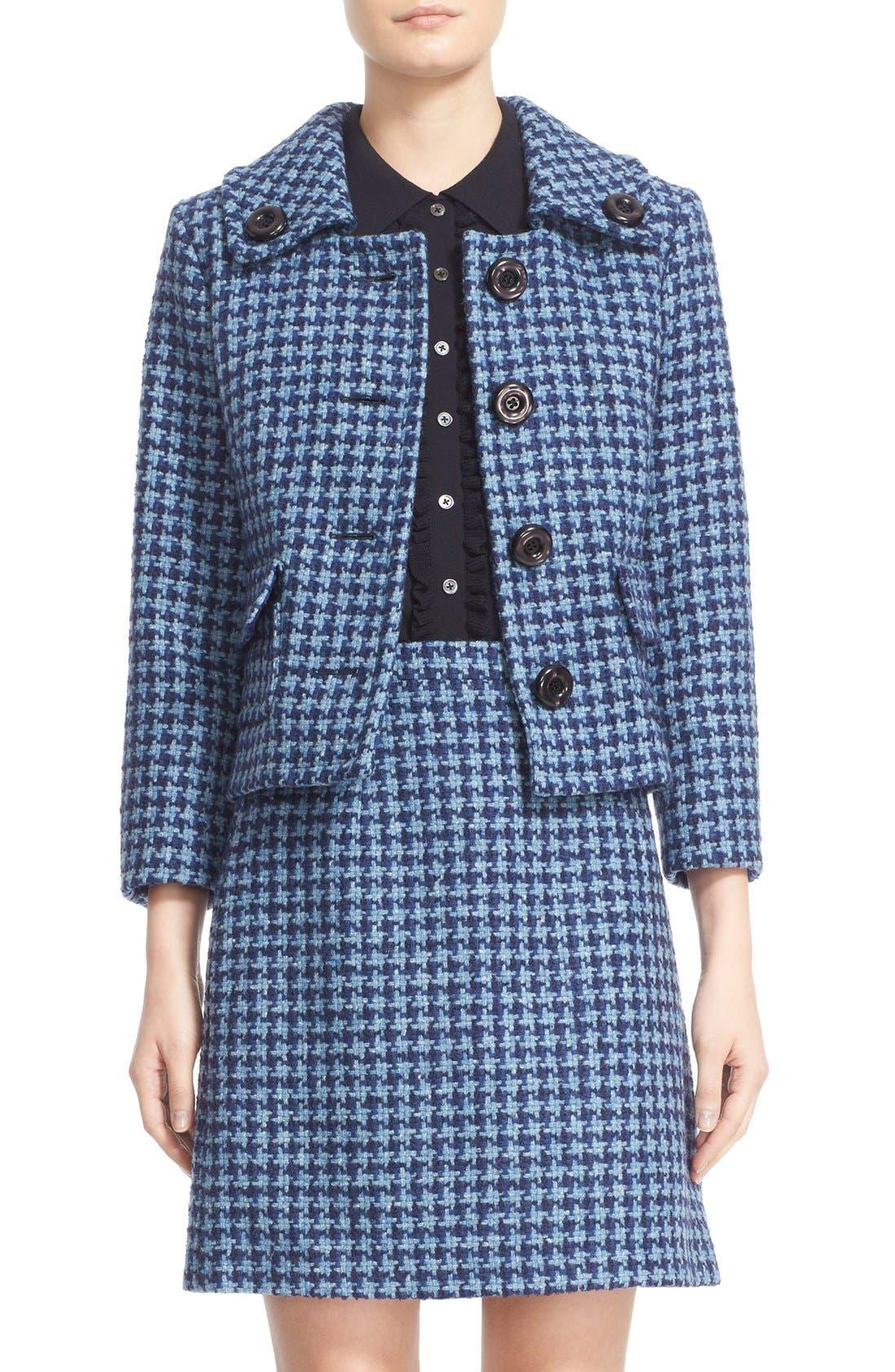 Alternate Image 1 Selected - Michael Kors Houndstooth Tweed Jacket