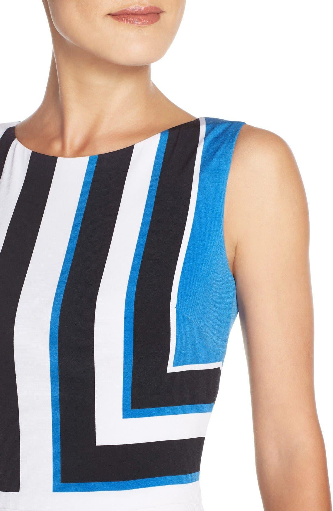 Alternate Image 4  - Maggy London Stripe Jersey Midi Dress