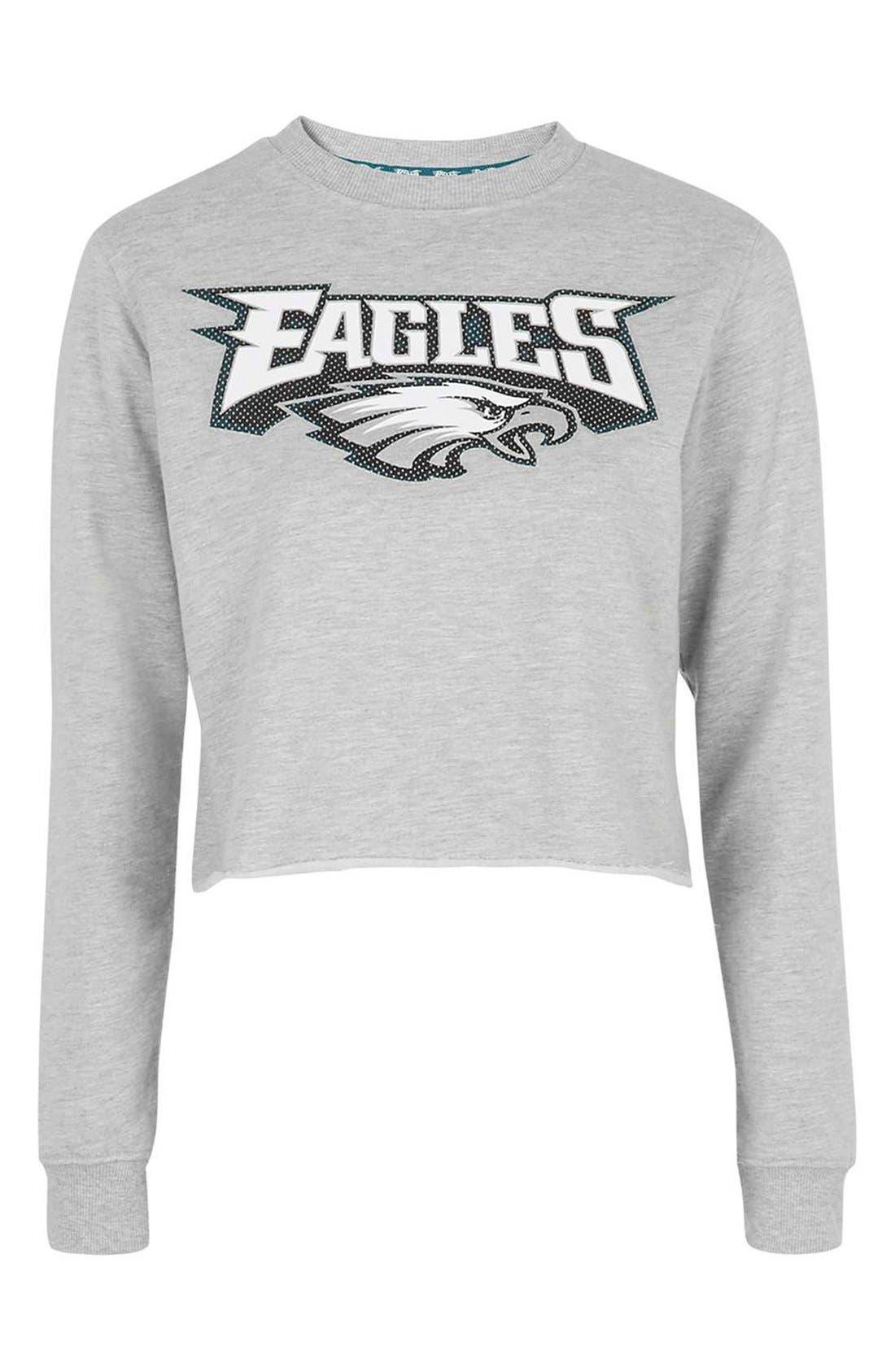 Alternate Image 3  - Topshop by Tee & Cake 'Eagles' Crop Sweatshirt