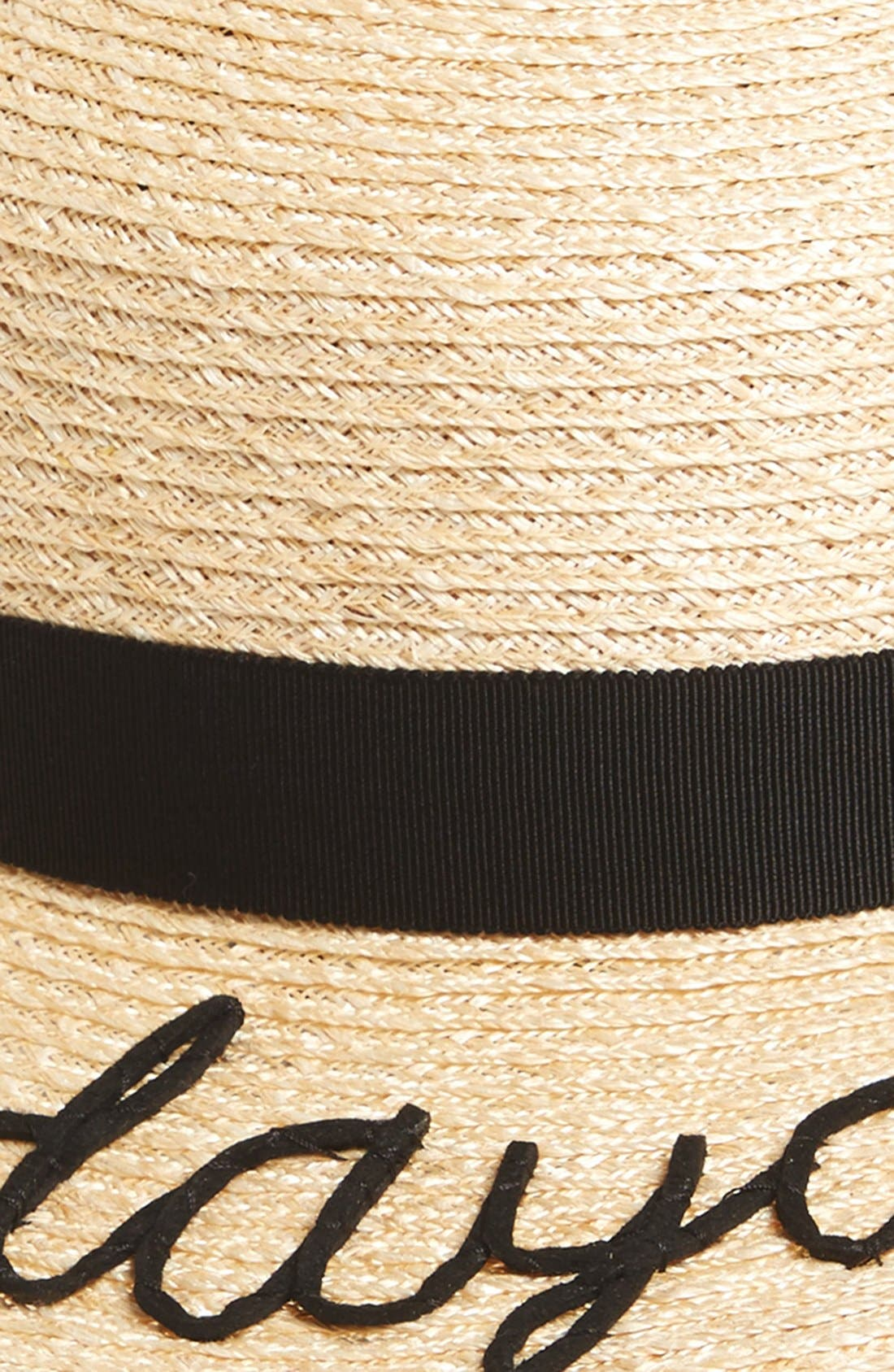 'Daydreamer' Straw Boater Hat,                             Alternate thumbnail 2, color,                             Natural