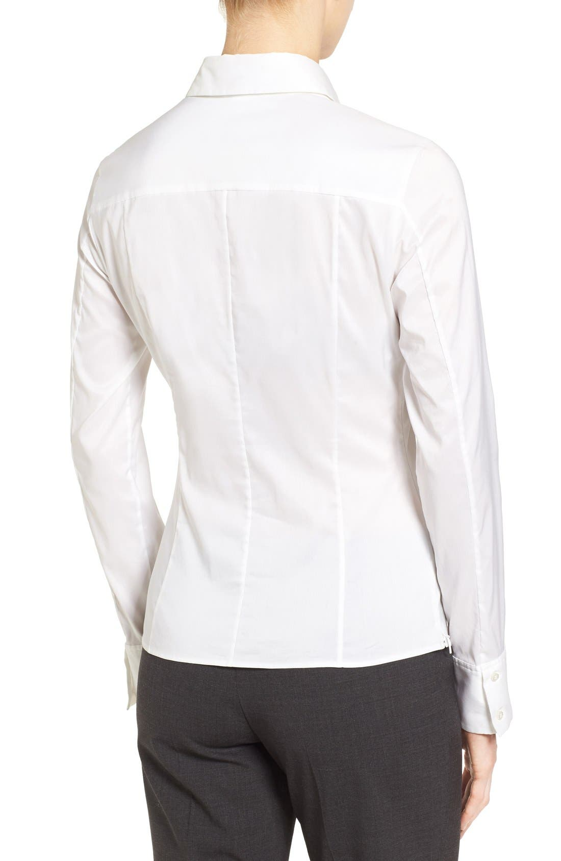 Alternate Image 2  - BOSS 'Bashina' Stretch Poplin Shirt (Regular & Petite)