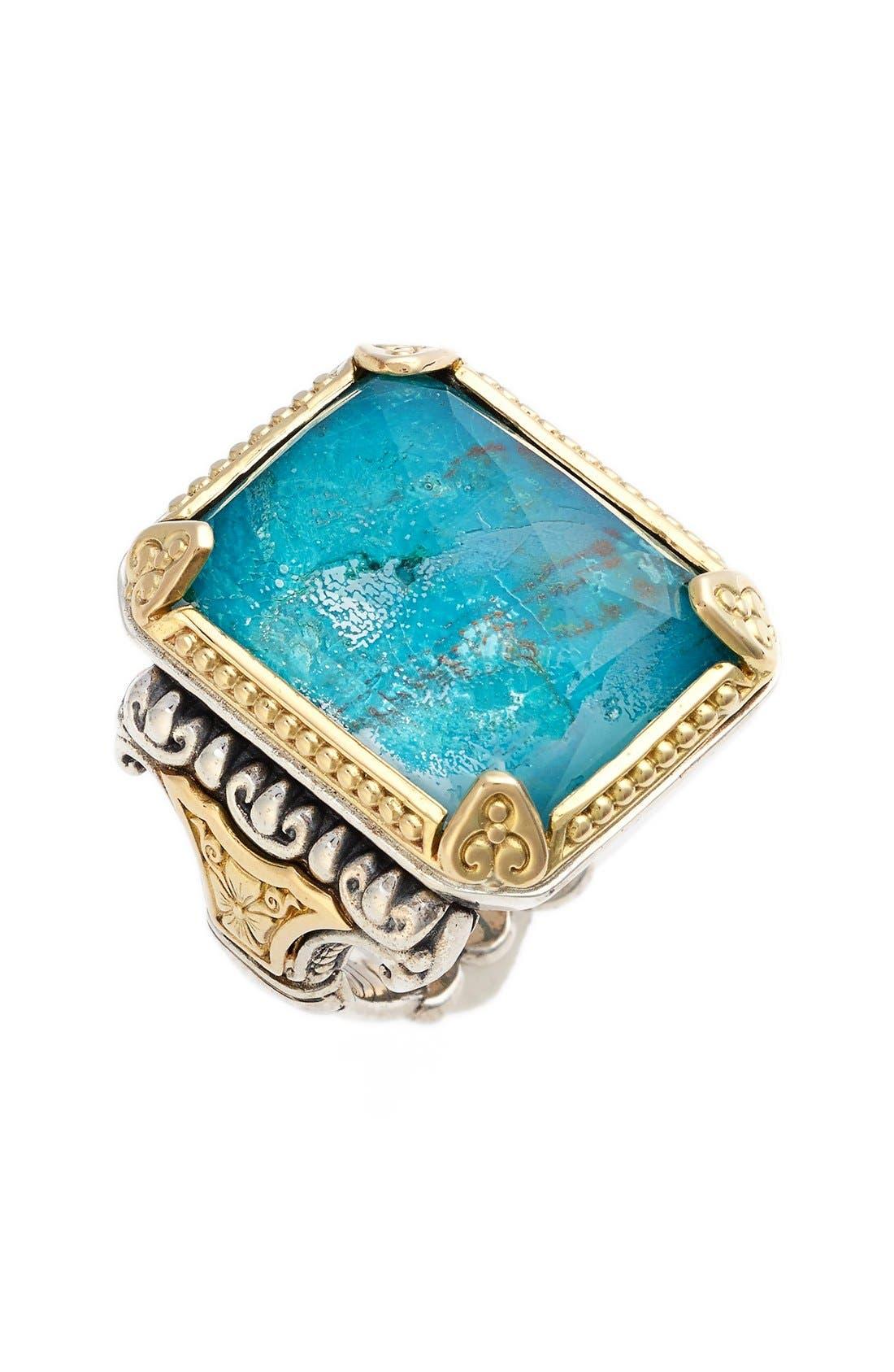 'Iliada' Semiprecious Ring,                             Main thumbnail 1, color,                             Blue/ Green