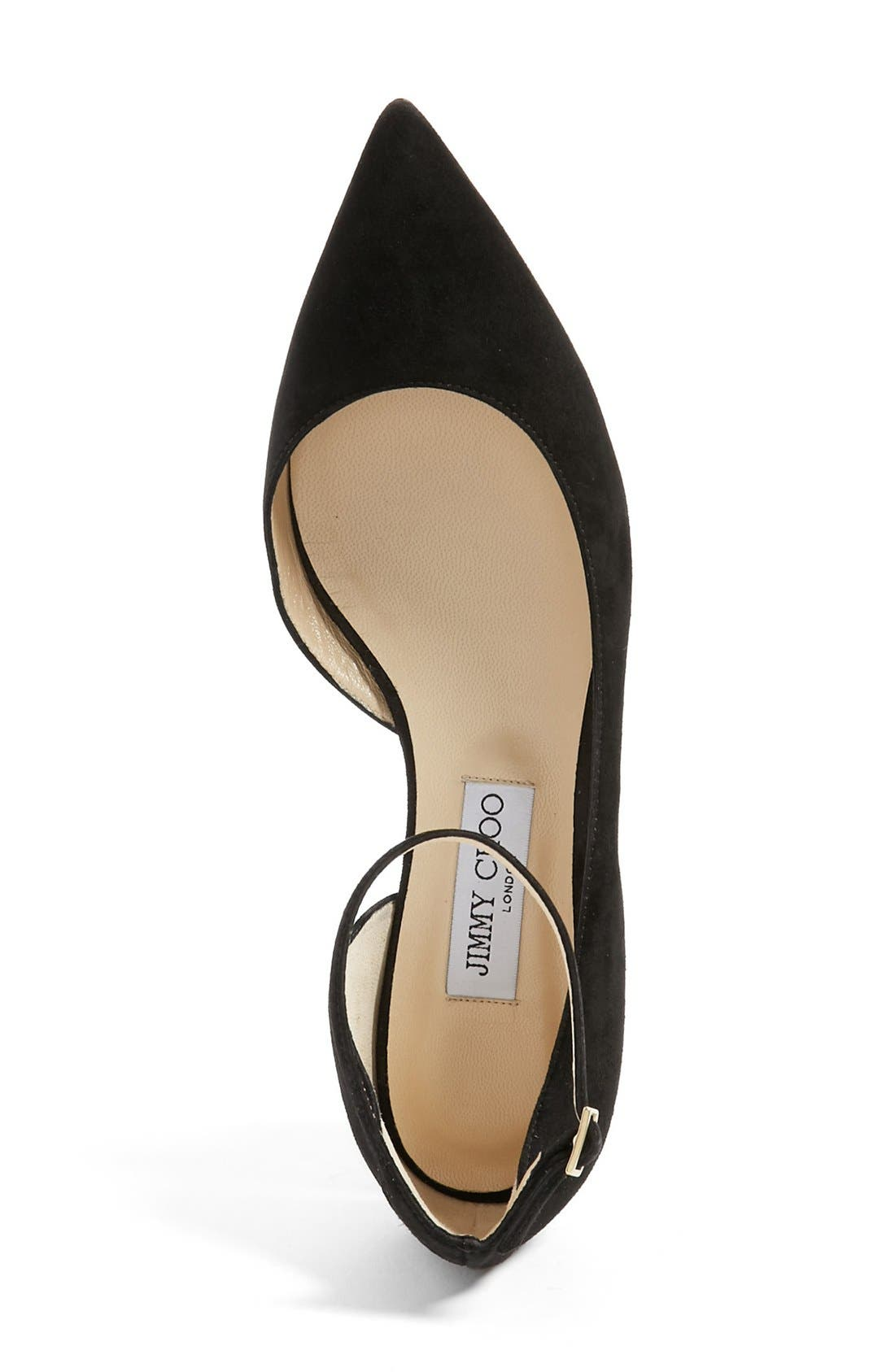 Alternate Image 3  - Jimmy Choo 'Lucy' Half d'Orsay Flat (Women)