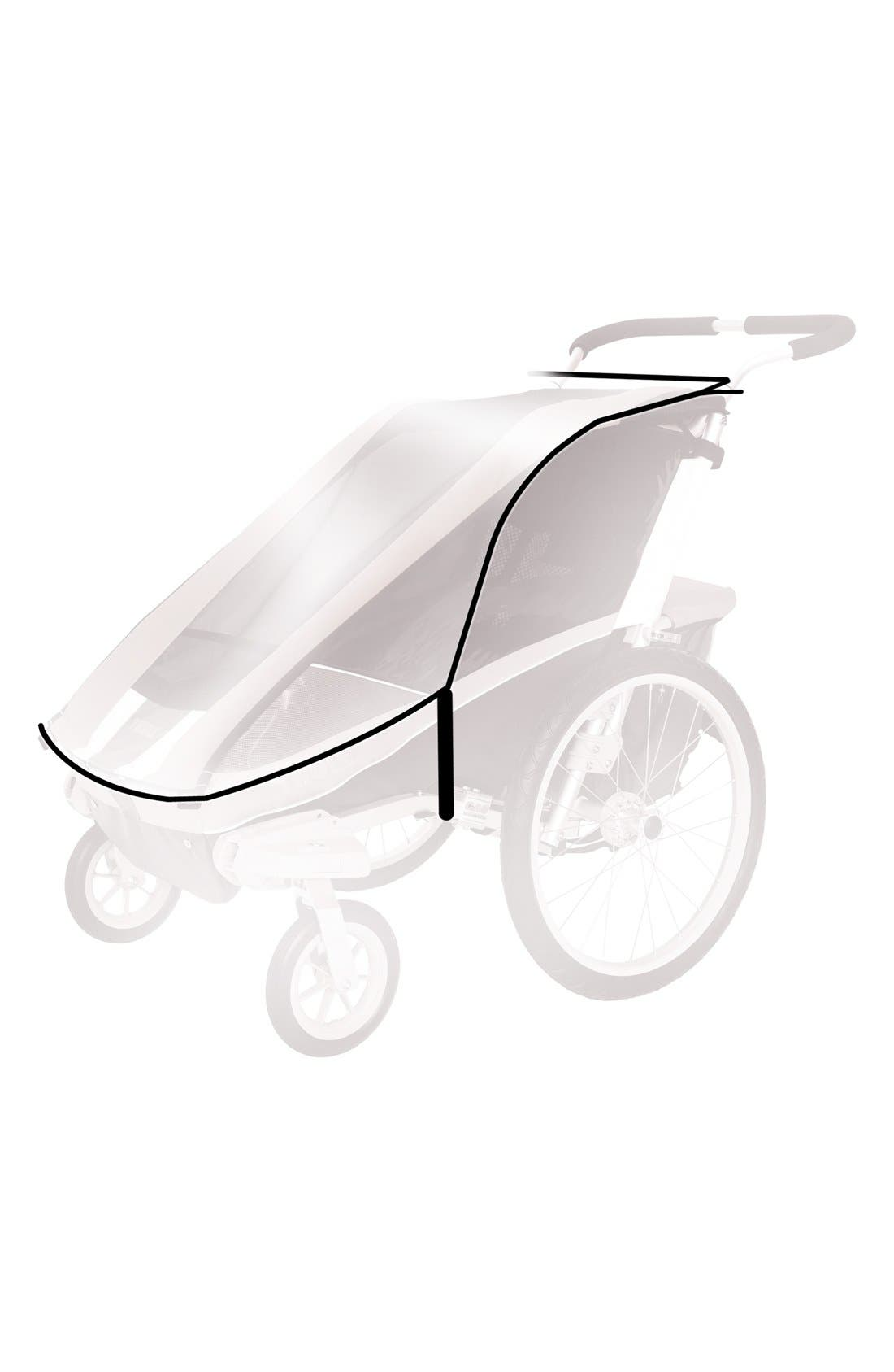 Protective Rain Cover for Thule Chariot Cheetah 1 Stroller,                         Main,                         color, Black