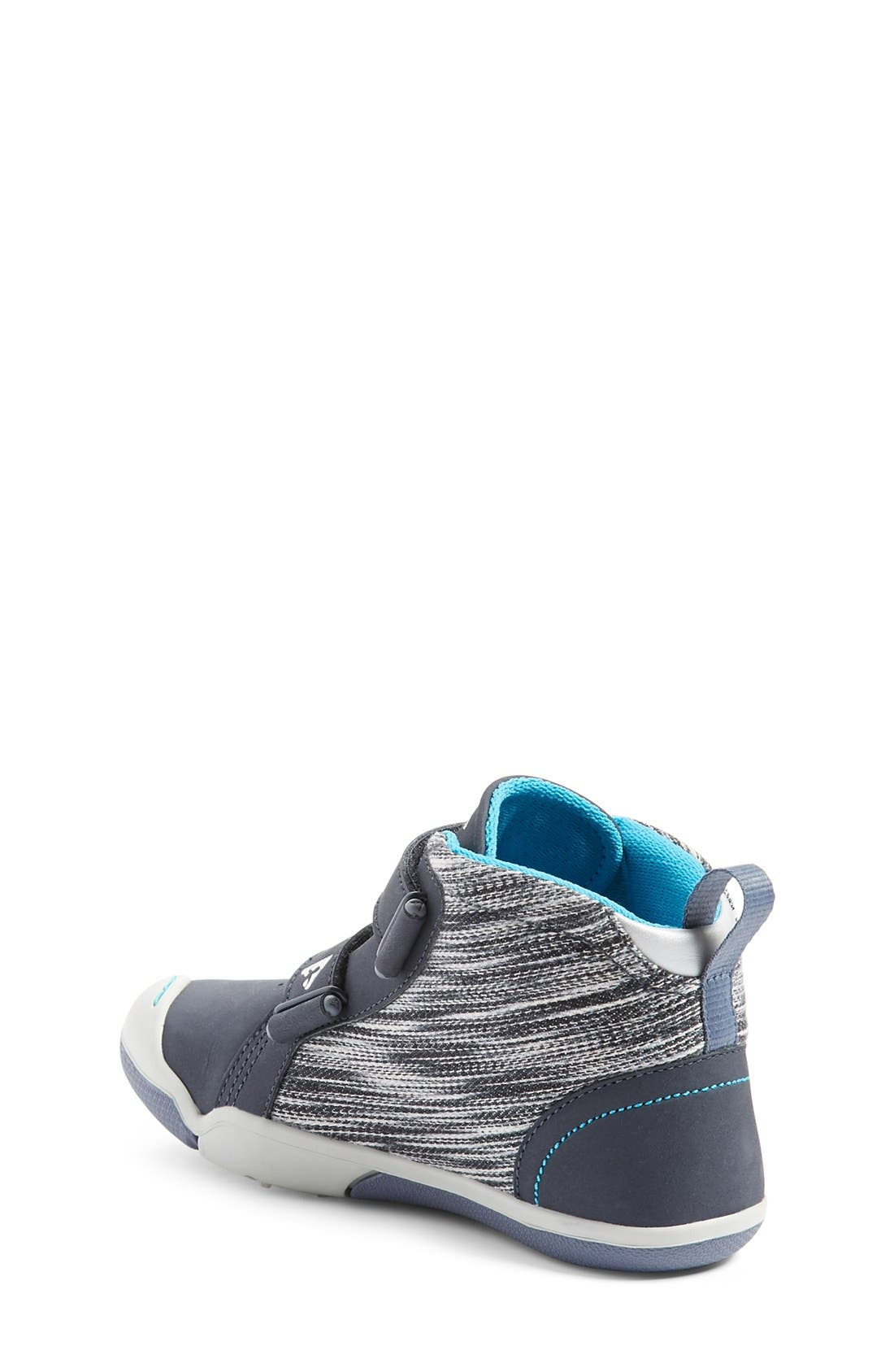'Max' Customizable High Top Sneaker,                             Alternate thumbnail 3, color,                             Leather Wind