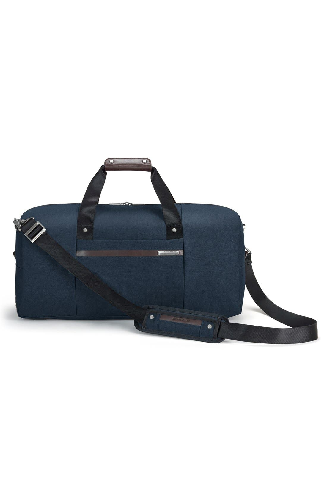 Kinzie Street - Simple Duffel Bag,                             Alternate thumbnail 4, color,                             Navy Blue