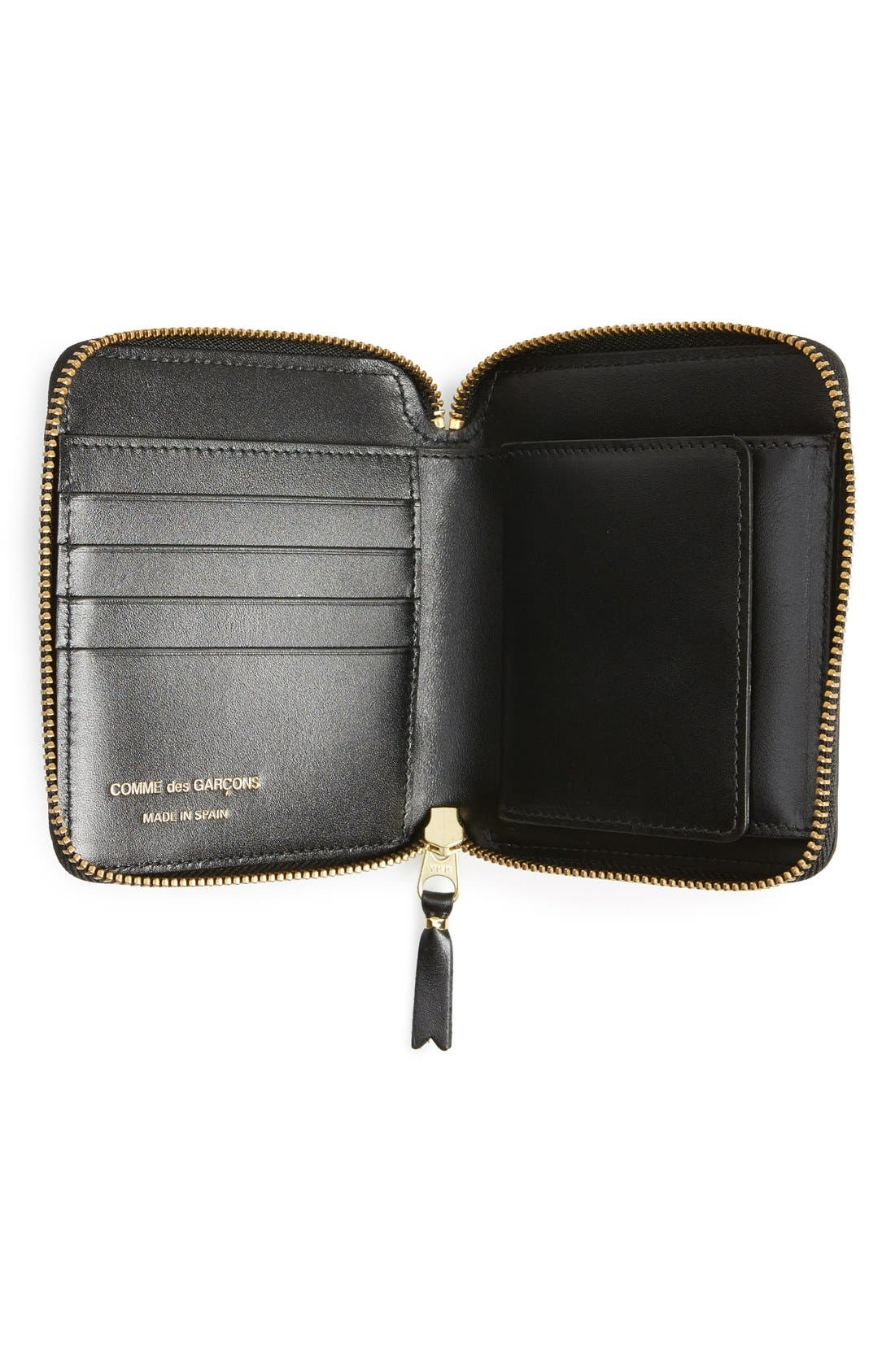 Comme de Garçons Embossed French Wallet,                             Alternate thumbnail 3, color,                             Black