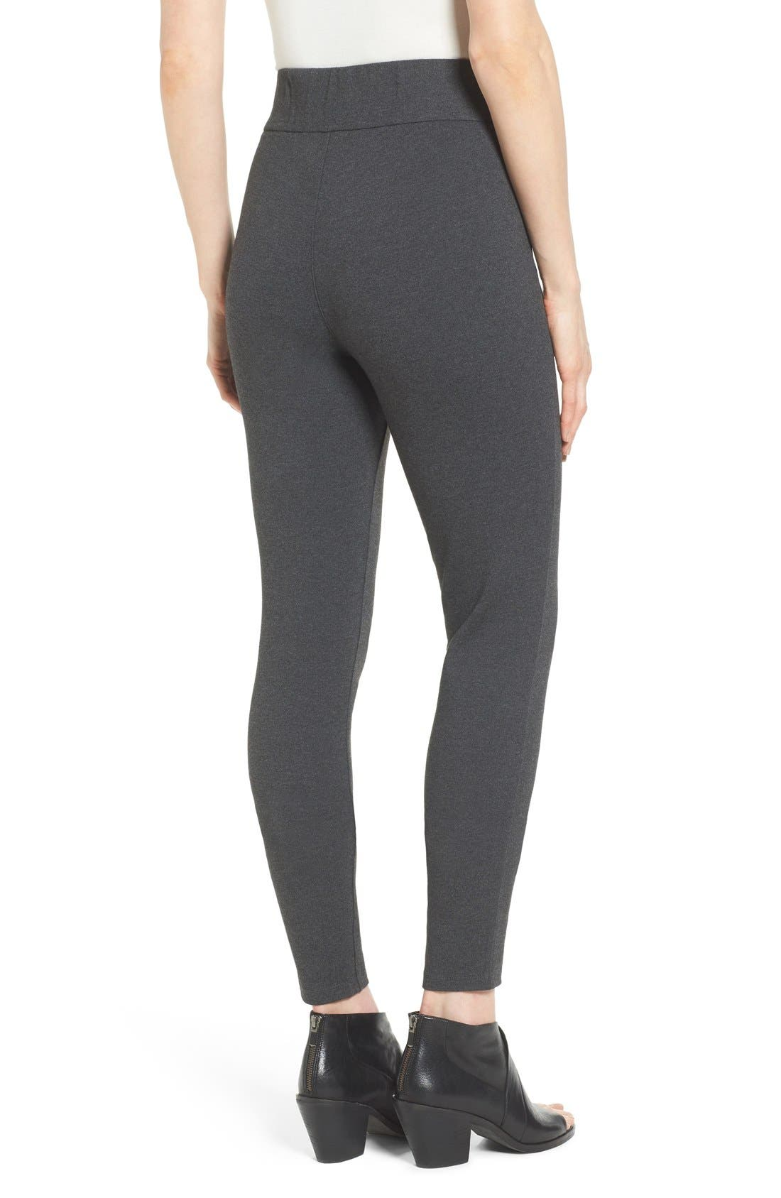 Alternate Image 2  - Eileen Fisher Ponte Knit Leggings (Regular & Petite)