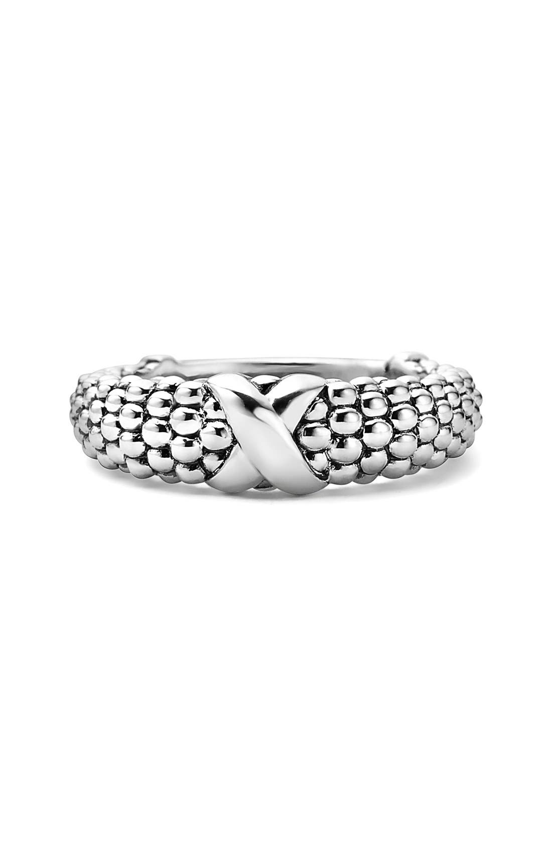 'Signature Caviar' Ring,                             Alternate thumbnail 3, color,                             Silver
