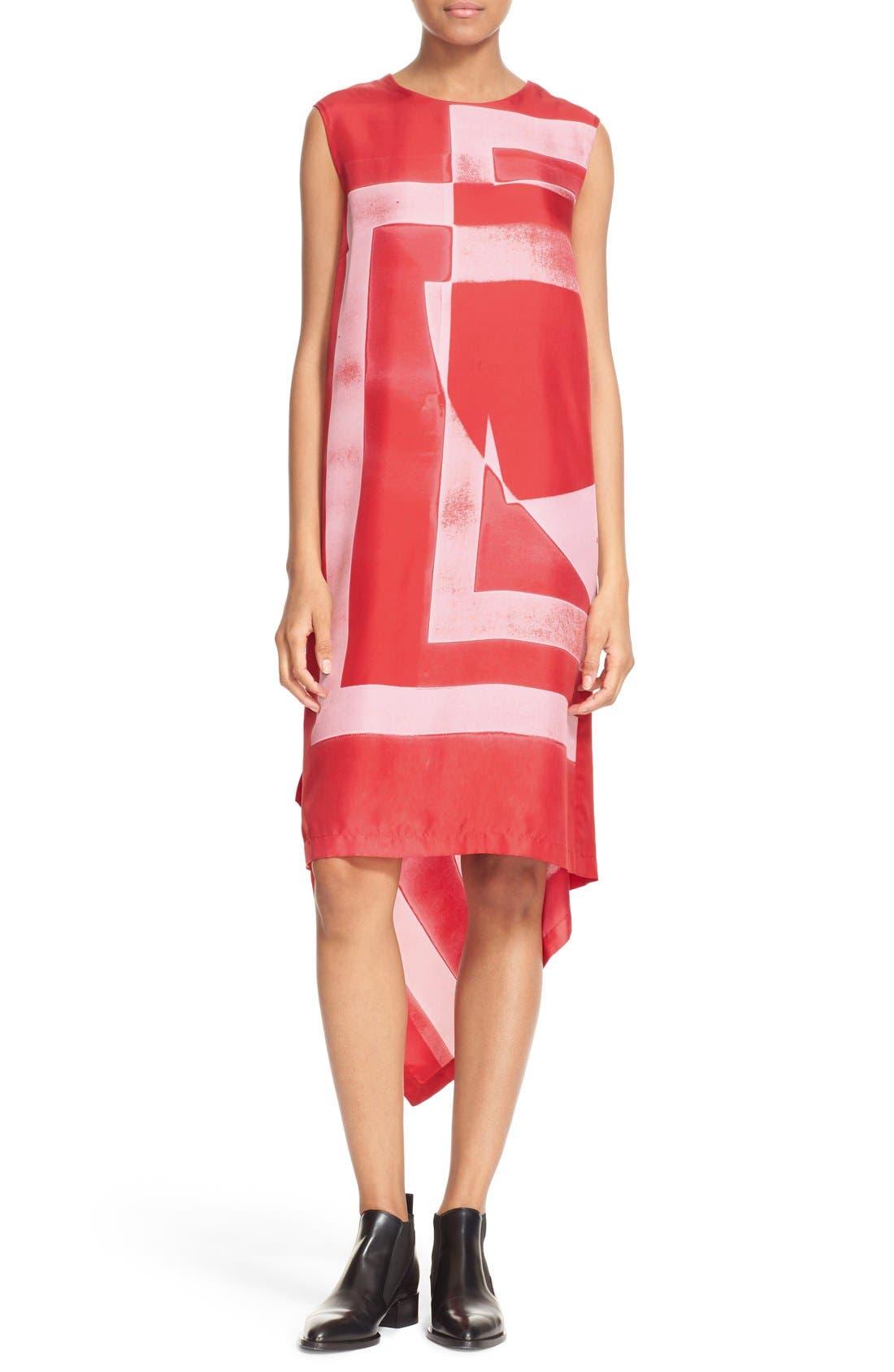 Alternate Image 1 Selected - DKNY Asymmetrical Print Silk Tunic Dress